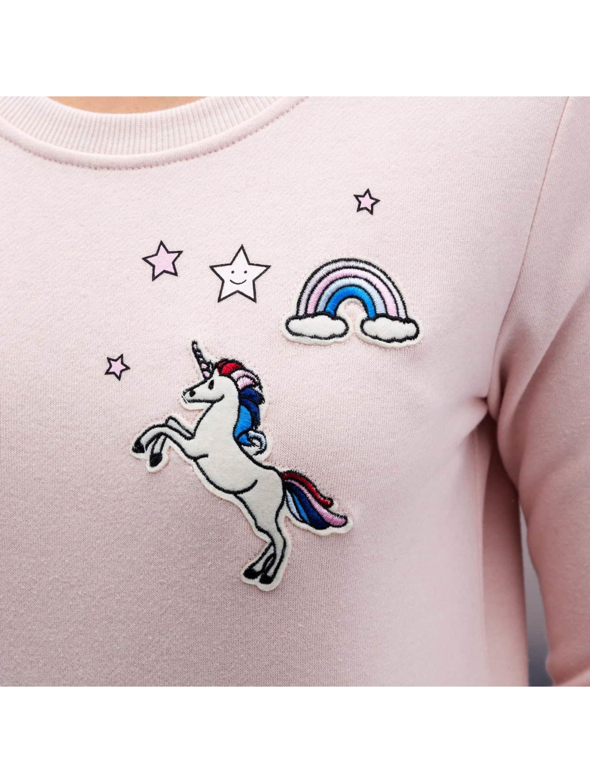 Only Maglia onlLove Me Unicorn rosa chiaro