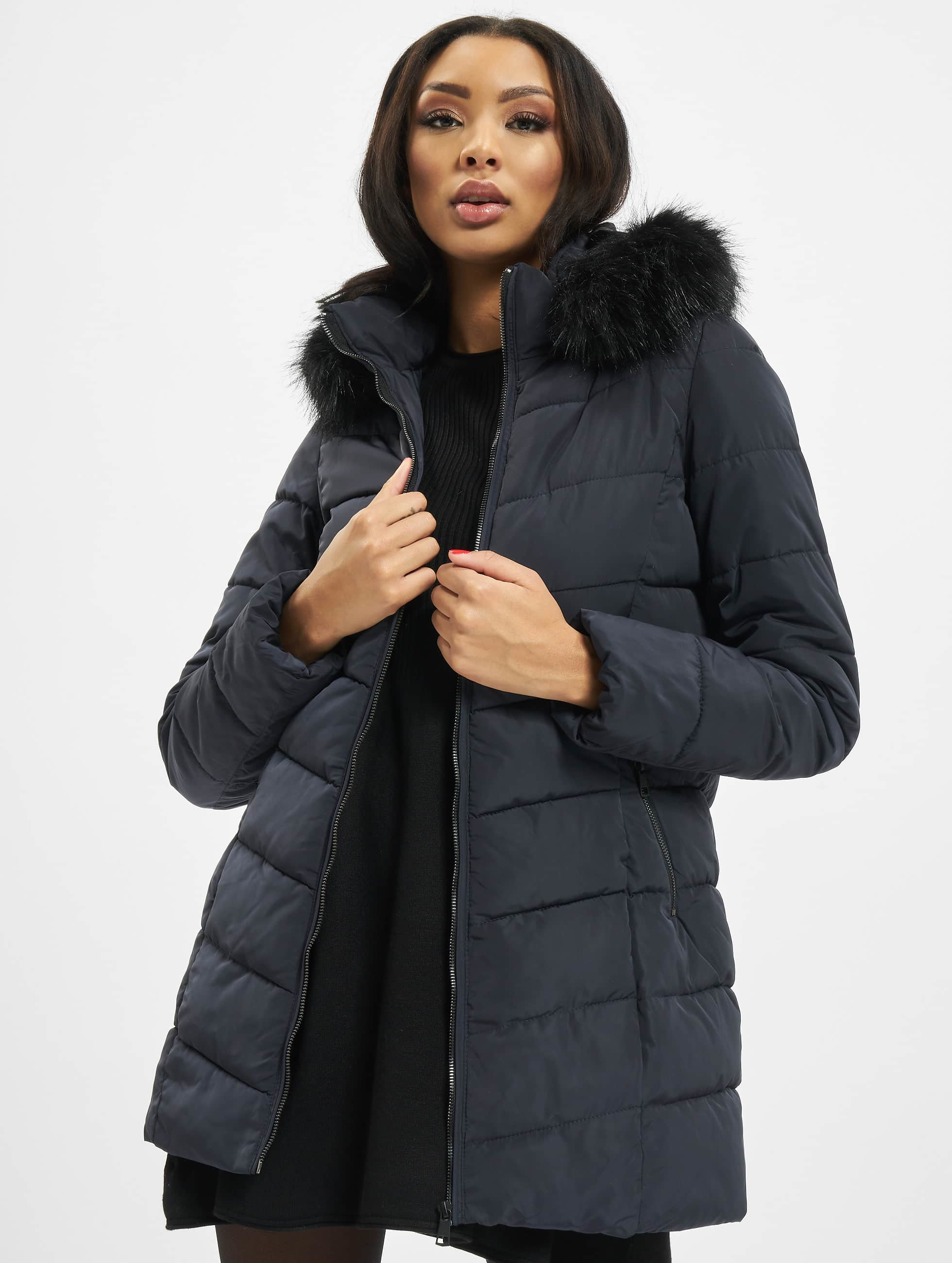 Only Onlminea Quilted Fur Hood Coat OTW Manteau Femme