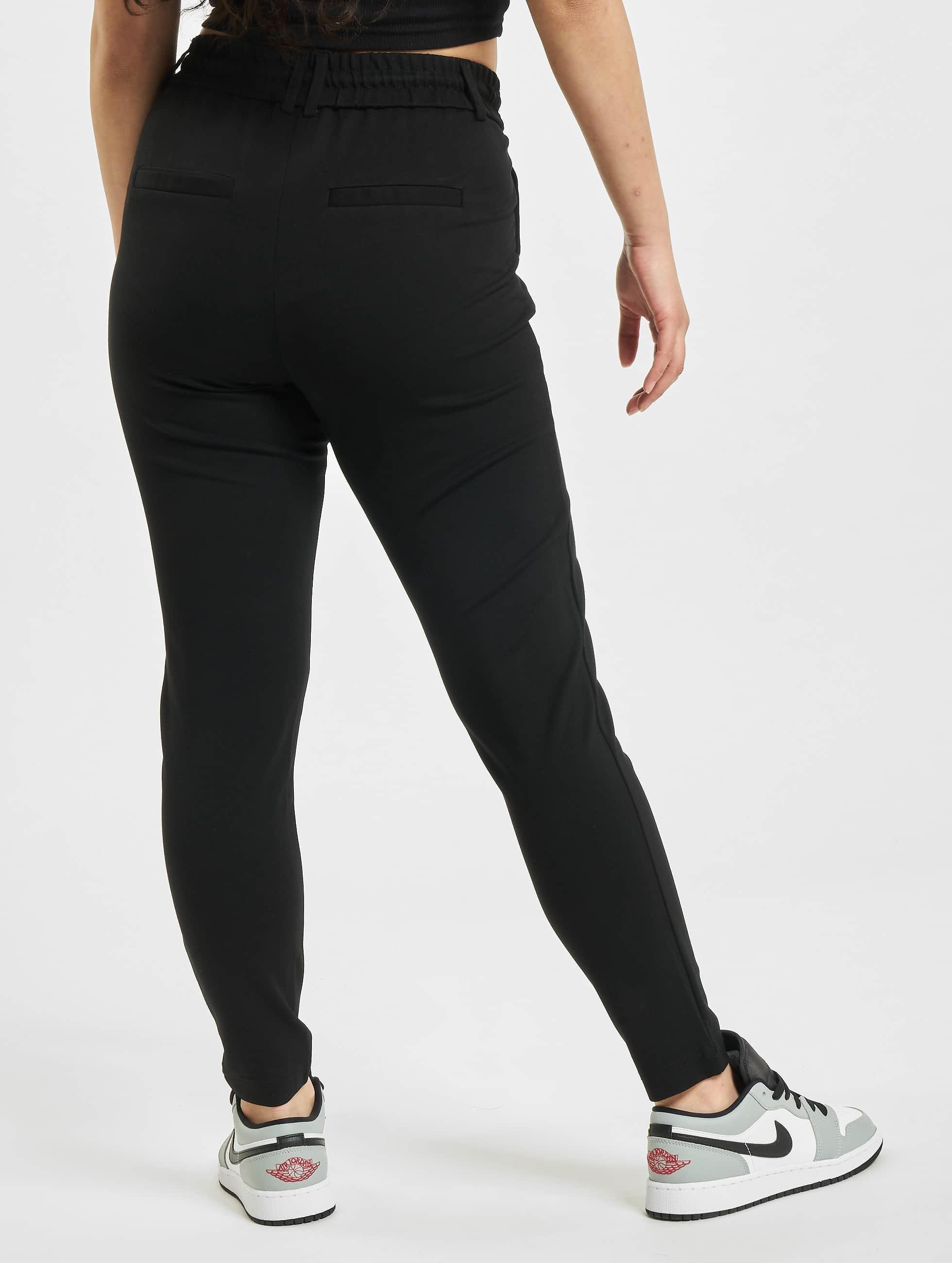 only onlpoptrash noir femme pantalon chino 277070. Black Bedroom Furniture Sets. Home Design Ideas