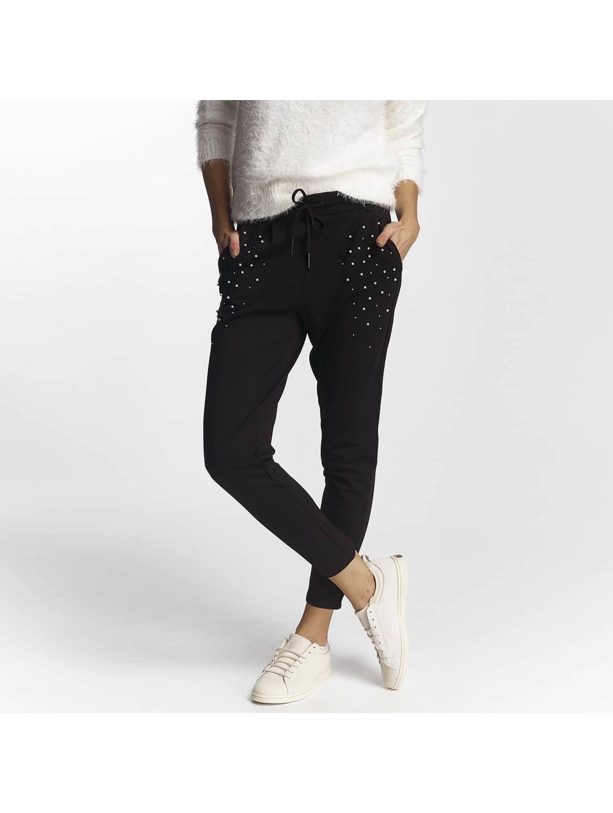 only onlpoptrash noir femme pantalon chino only acheter pas cher pantalon 427192. Black Bedroom Furniture Sets. Home Design Ideas