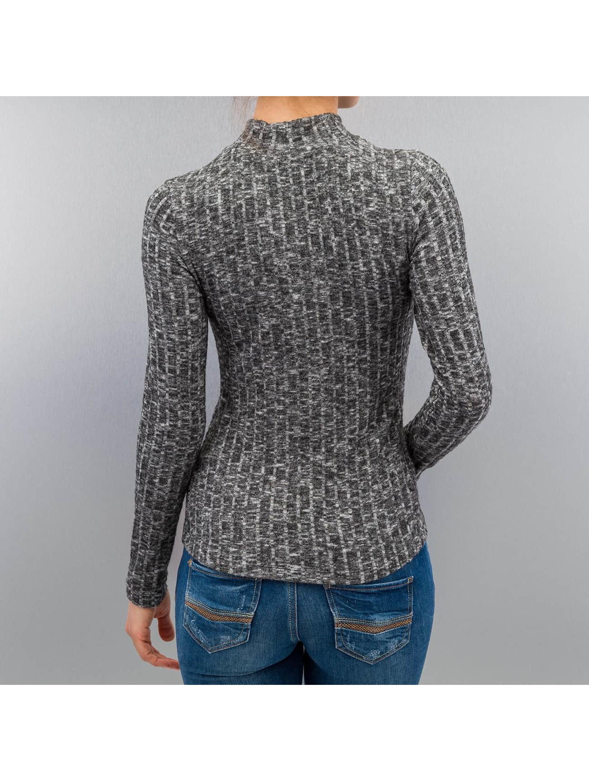 Only Pitkähihaiset paidat onlGreat Ripena High Neck Longsleeve harmaa