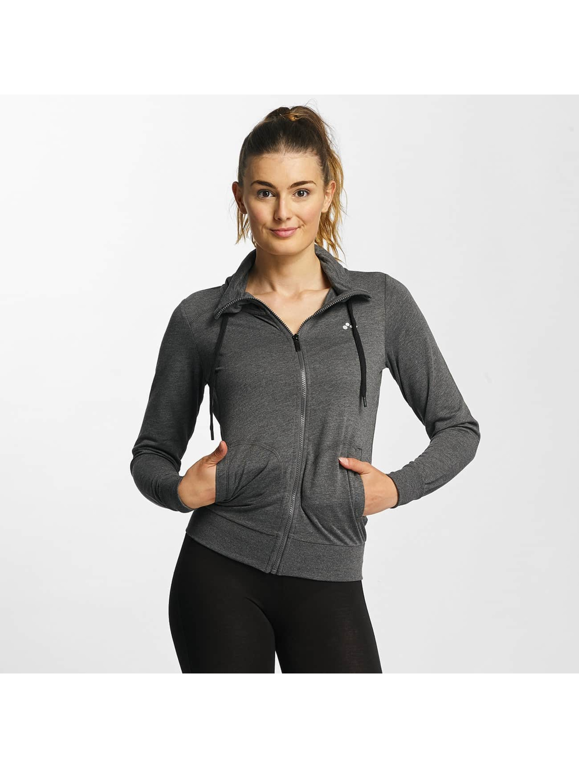 Only Play Chaqueta de entretiempo onpLina High Neck Zipper gris