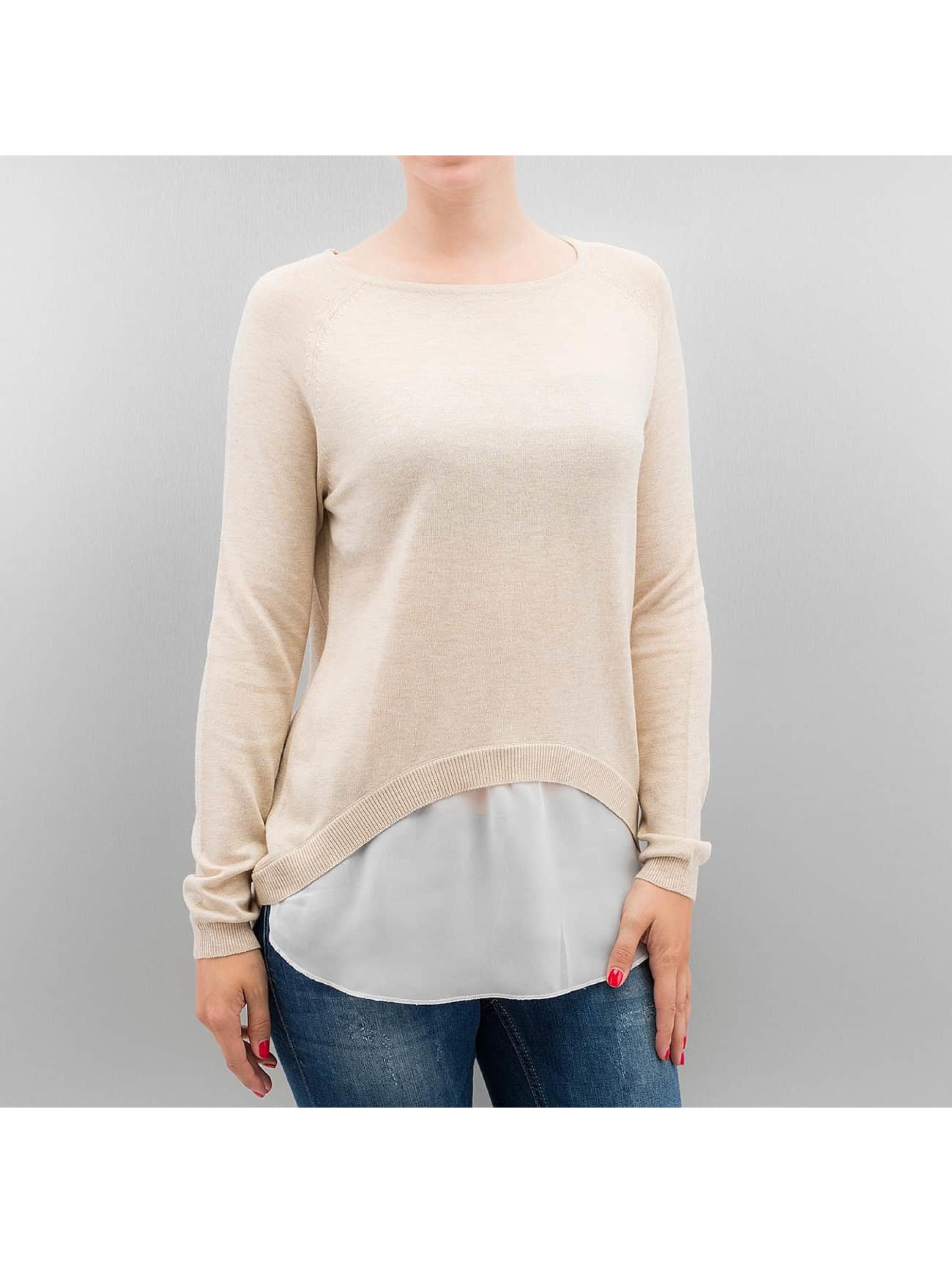 Pullover onlSavanna Round Mix in beige