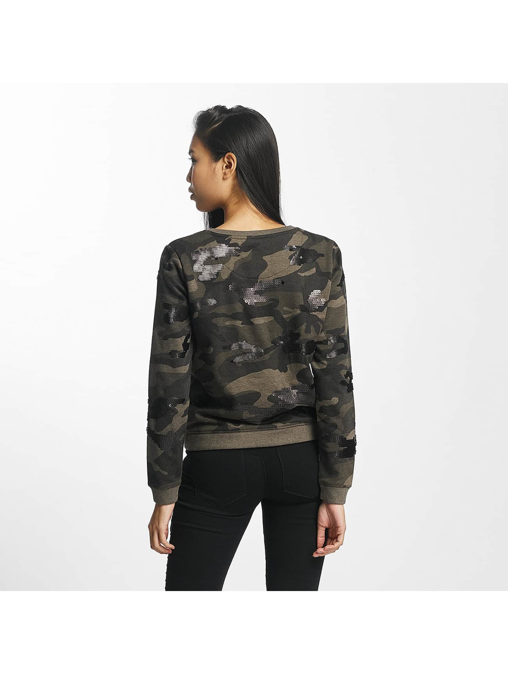 only damen pullover onlliva in camouflage 370246. Black Bedroom Furniture Sets. Home Design Ideas