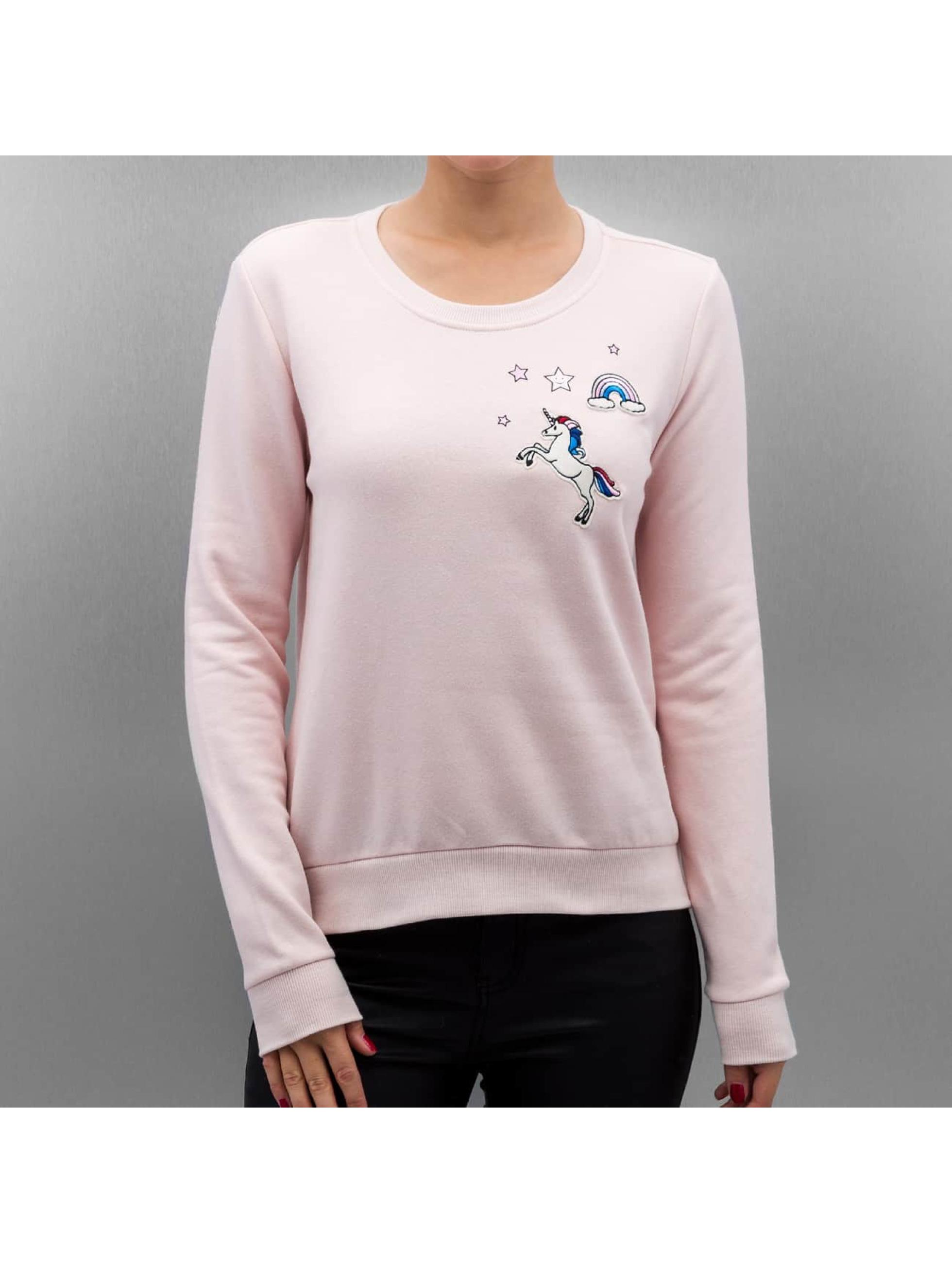 Pullover onlLove Me Unicorn in rosa