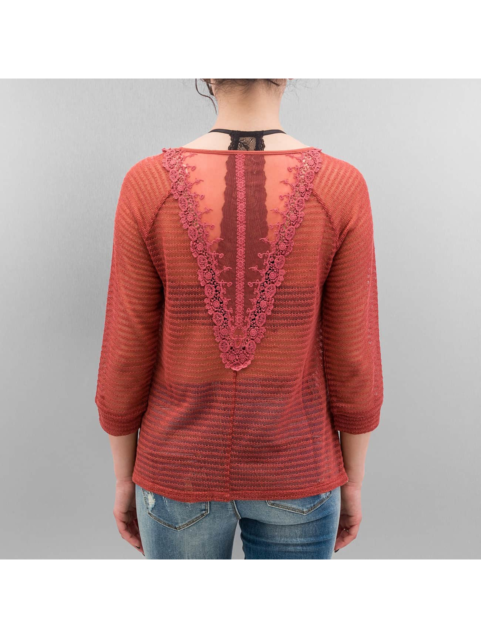 Only Pullover onlElvira Lace rot