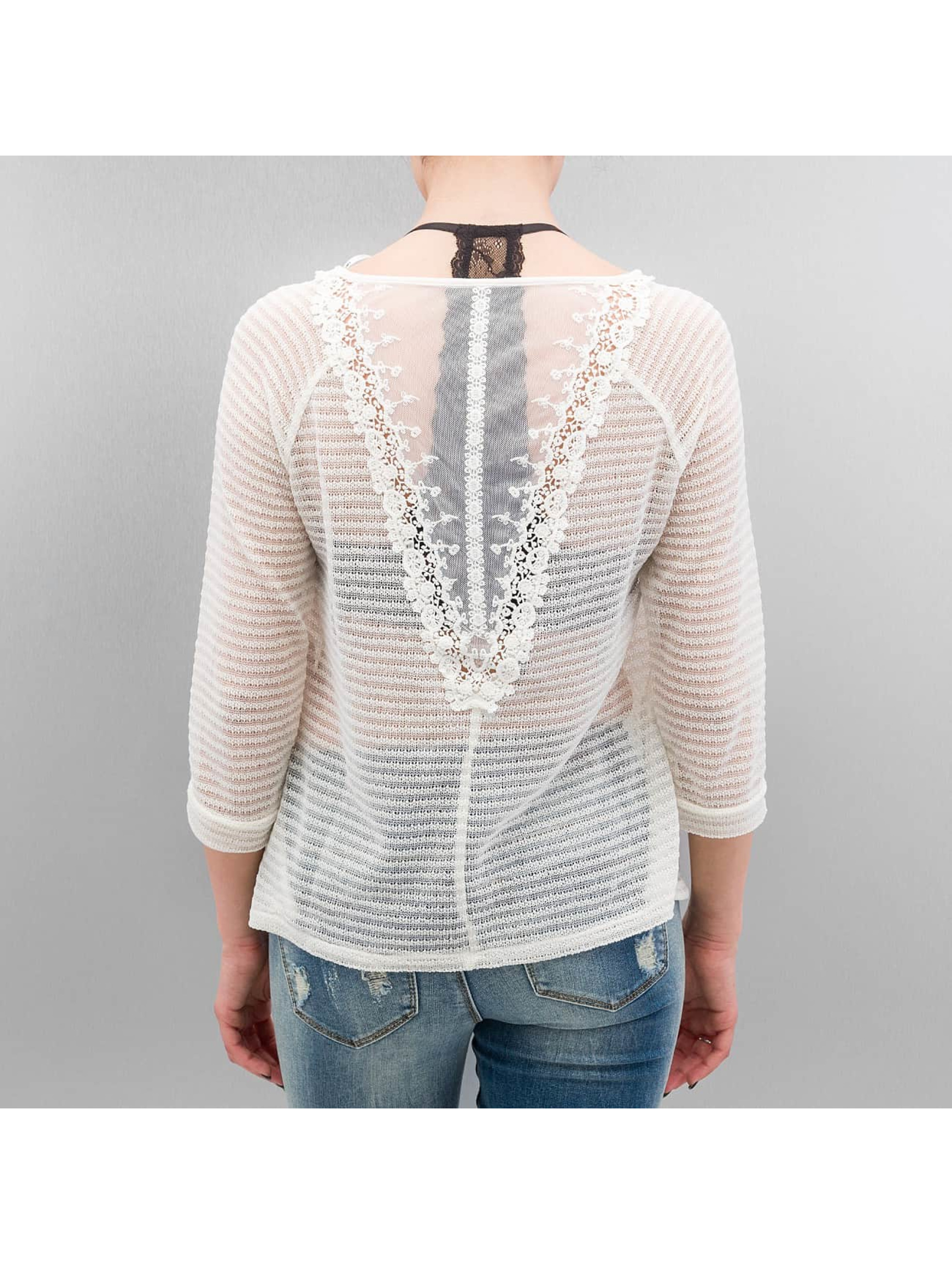 Only Pullover onlElvira Lace weiß