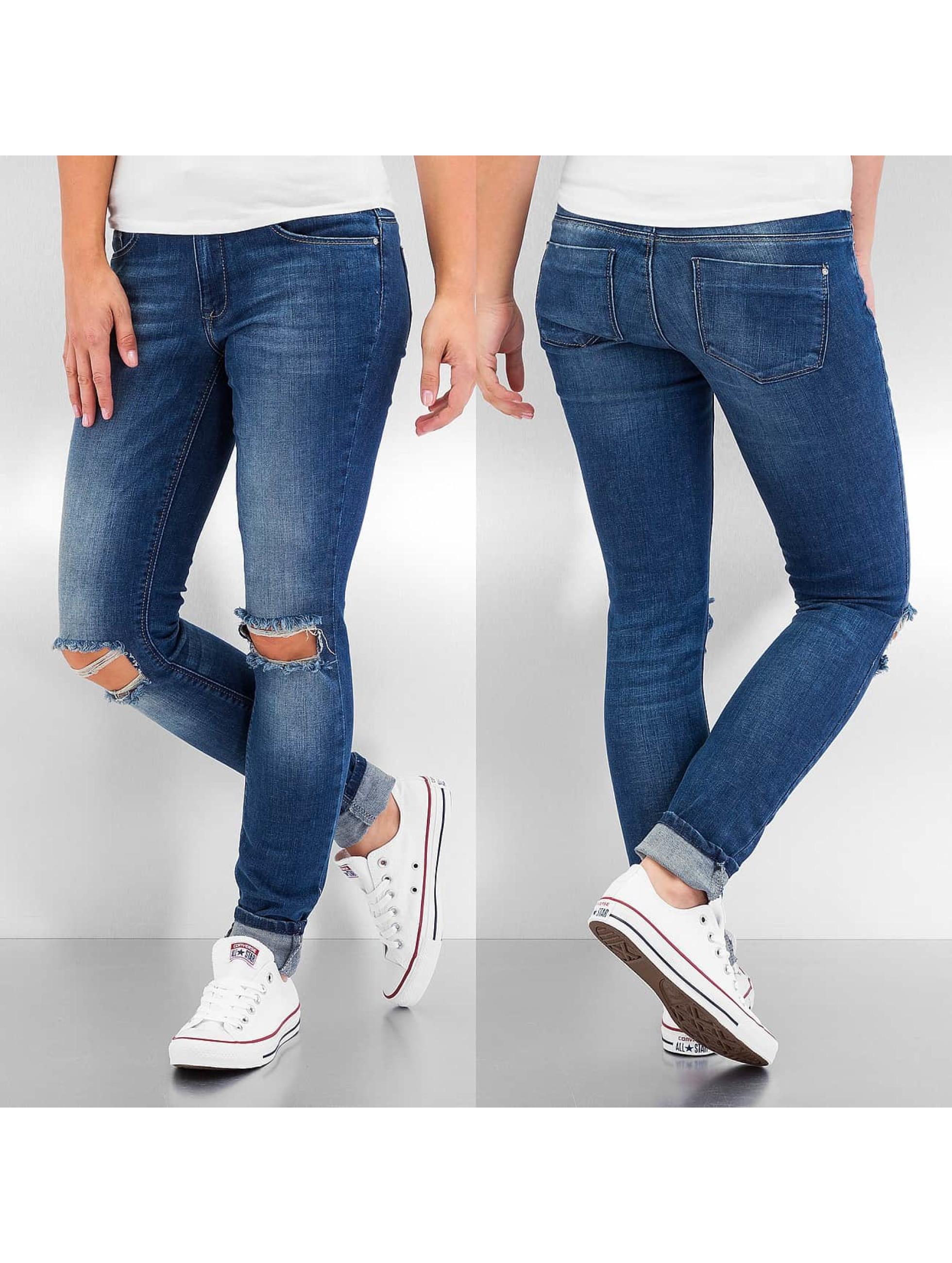 Skinny Jeans onlCoral Regular Kneehole in blau