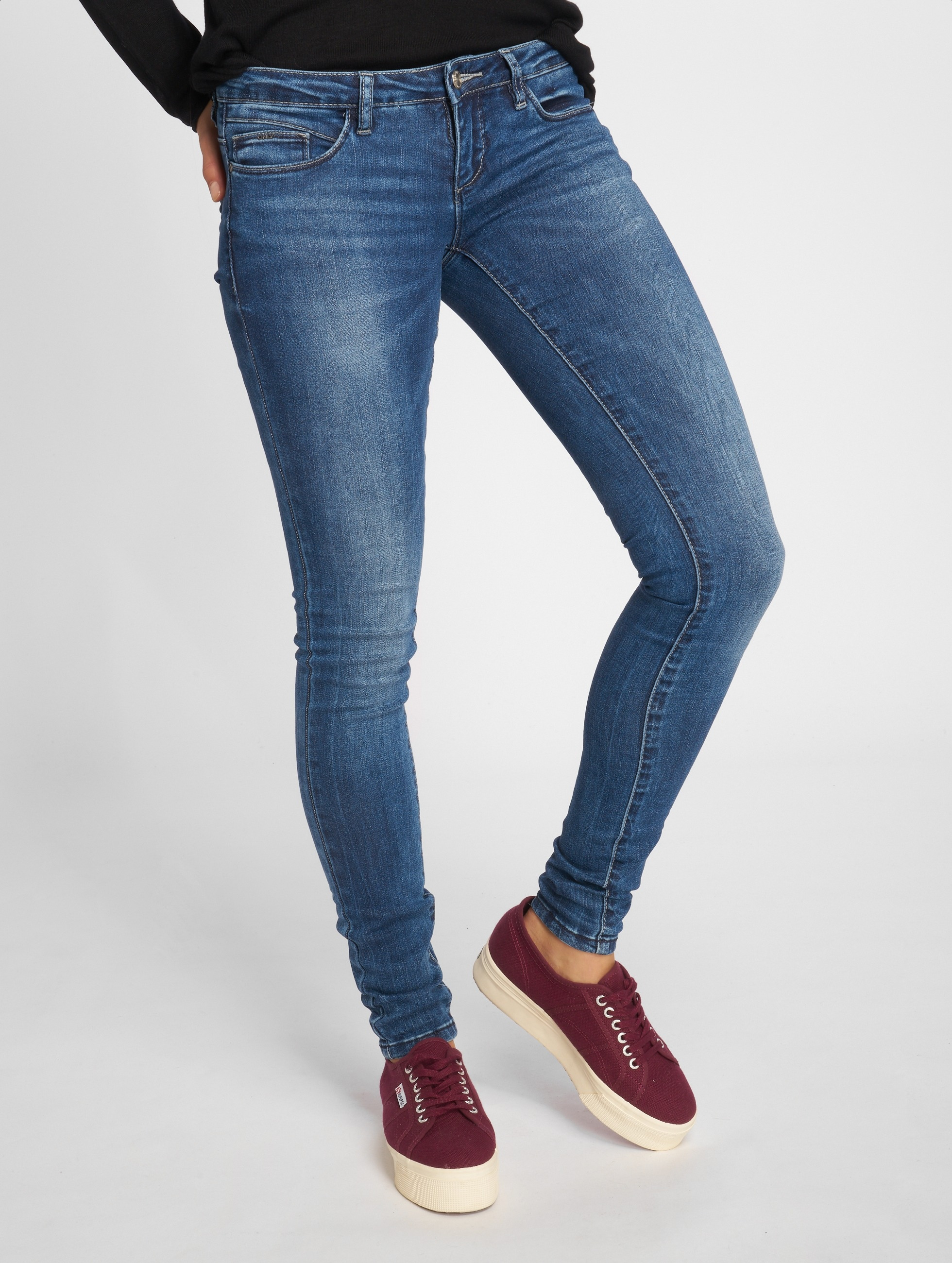 Only Skinny jeans onlCoral Slim blauw