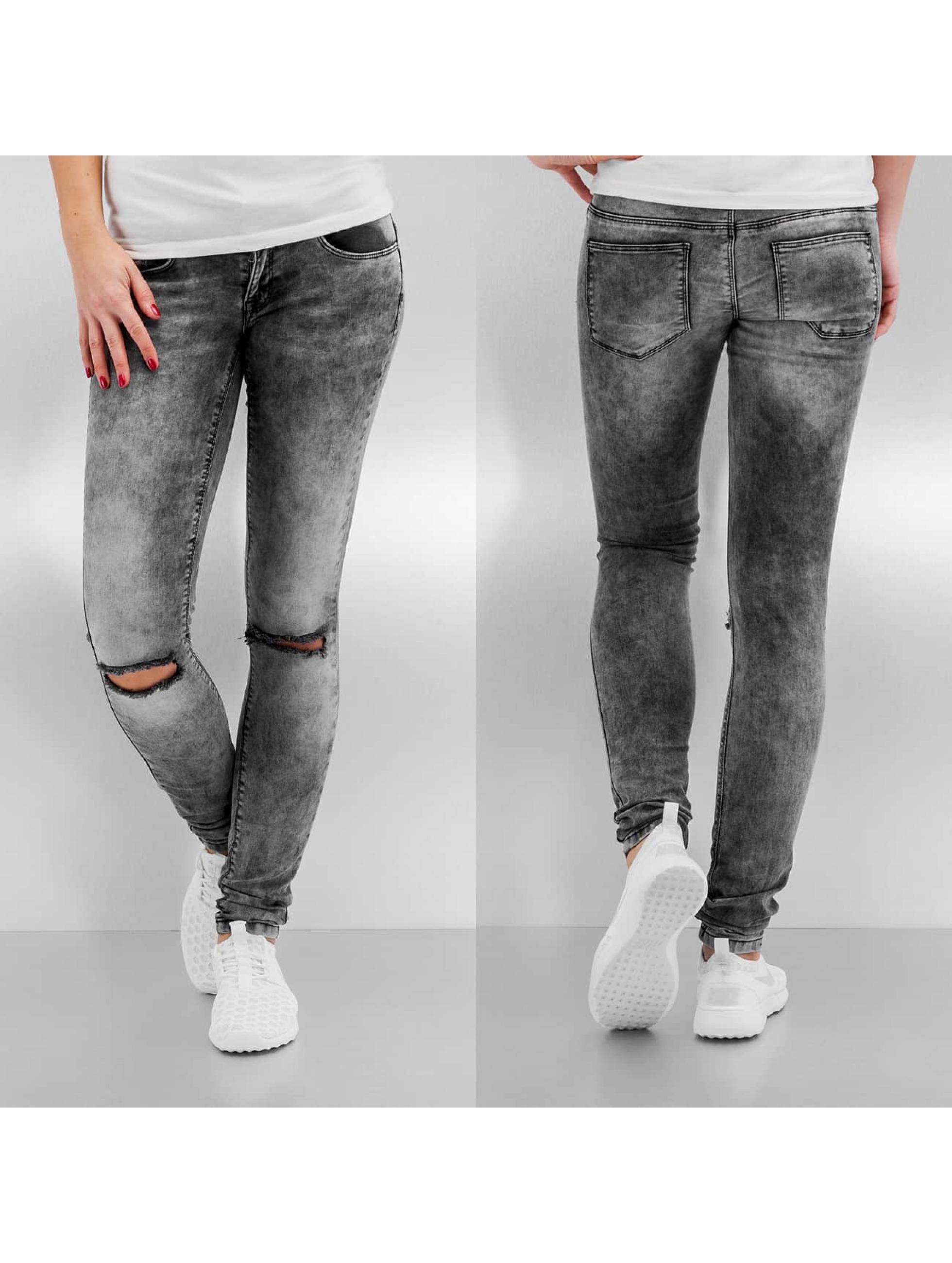 Skinny Jeans onlCoral Kneehole in grau