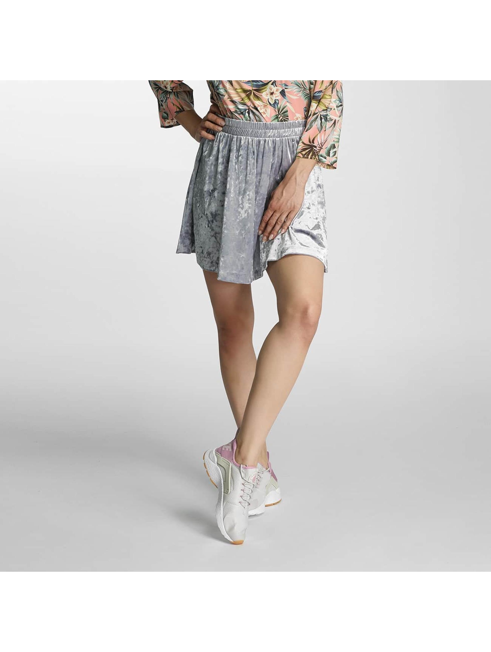 Only Skirt onlPunti Velour Skater silver