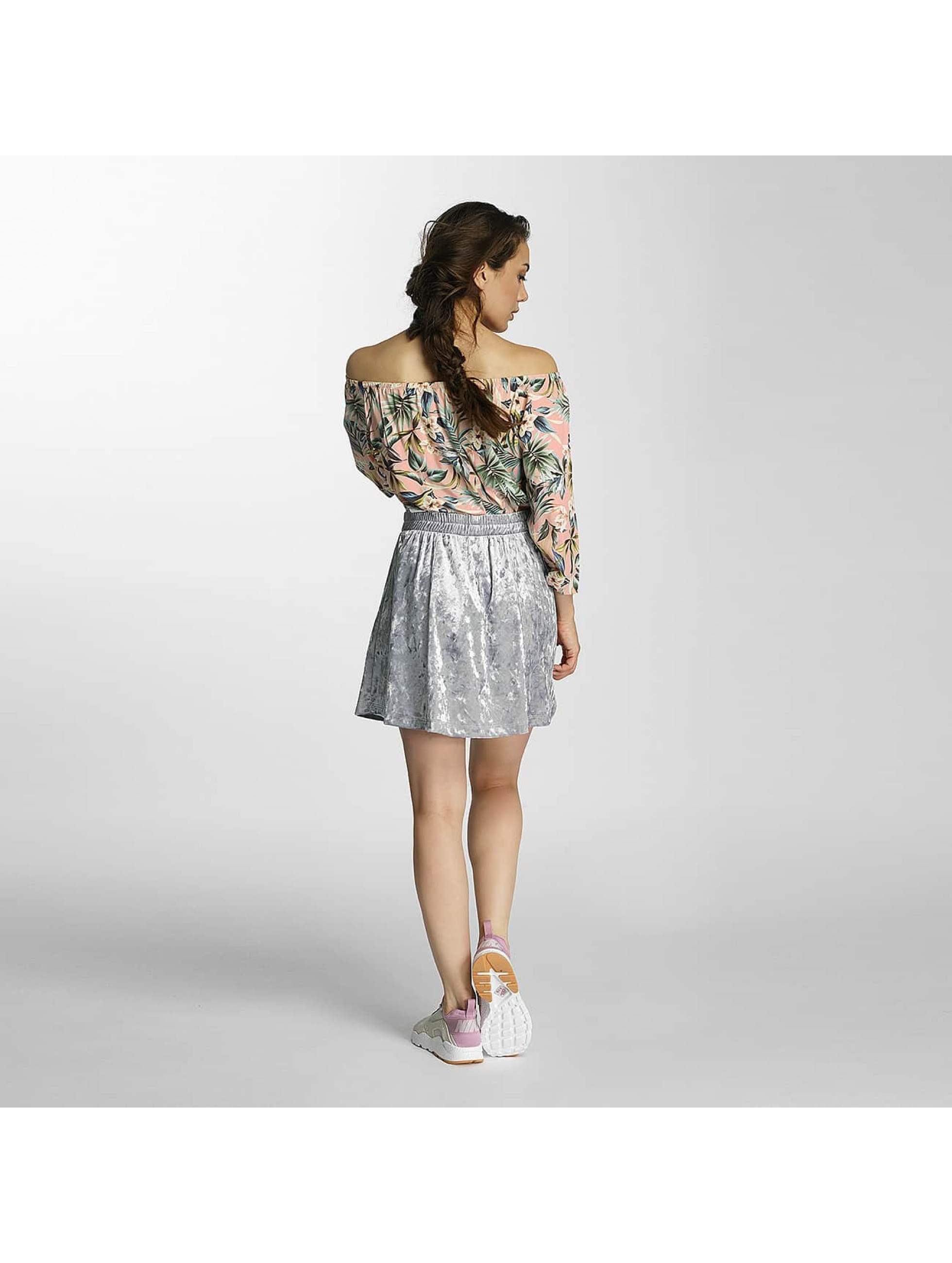 Only Skirt onlPunti Velour Skater silver colored