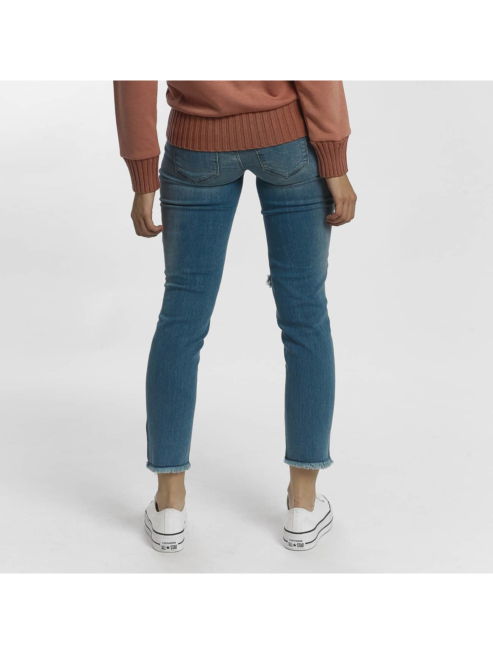 Only Straight fit jeans onlJulie Slim Ankle blauw