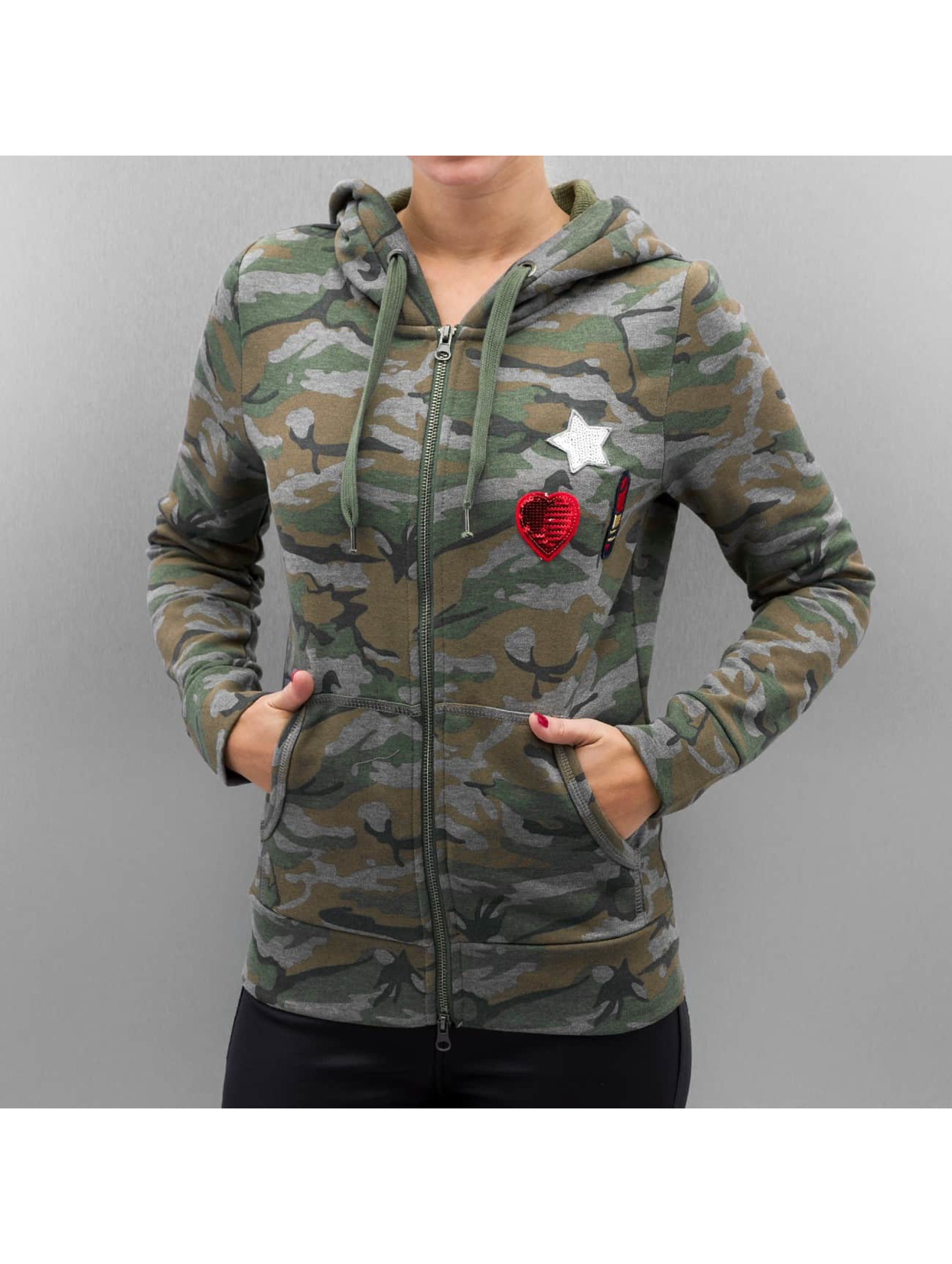 Only Sweat capuche zippé onlCamoflage Finley camouflage