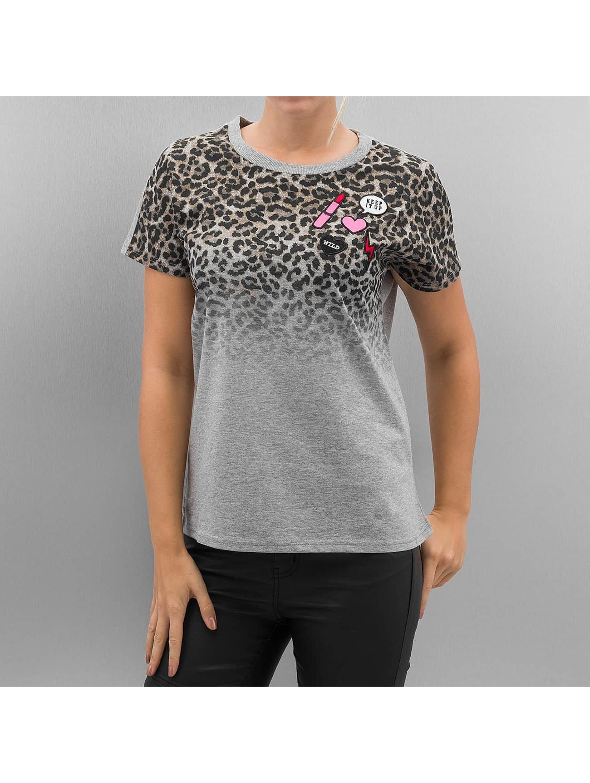 Only T-Shirt onlDana Leo grau