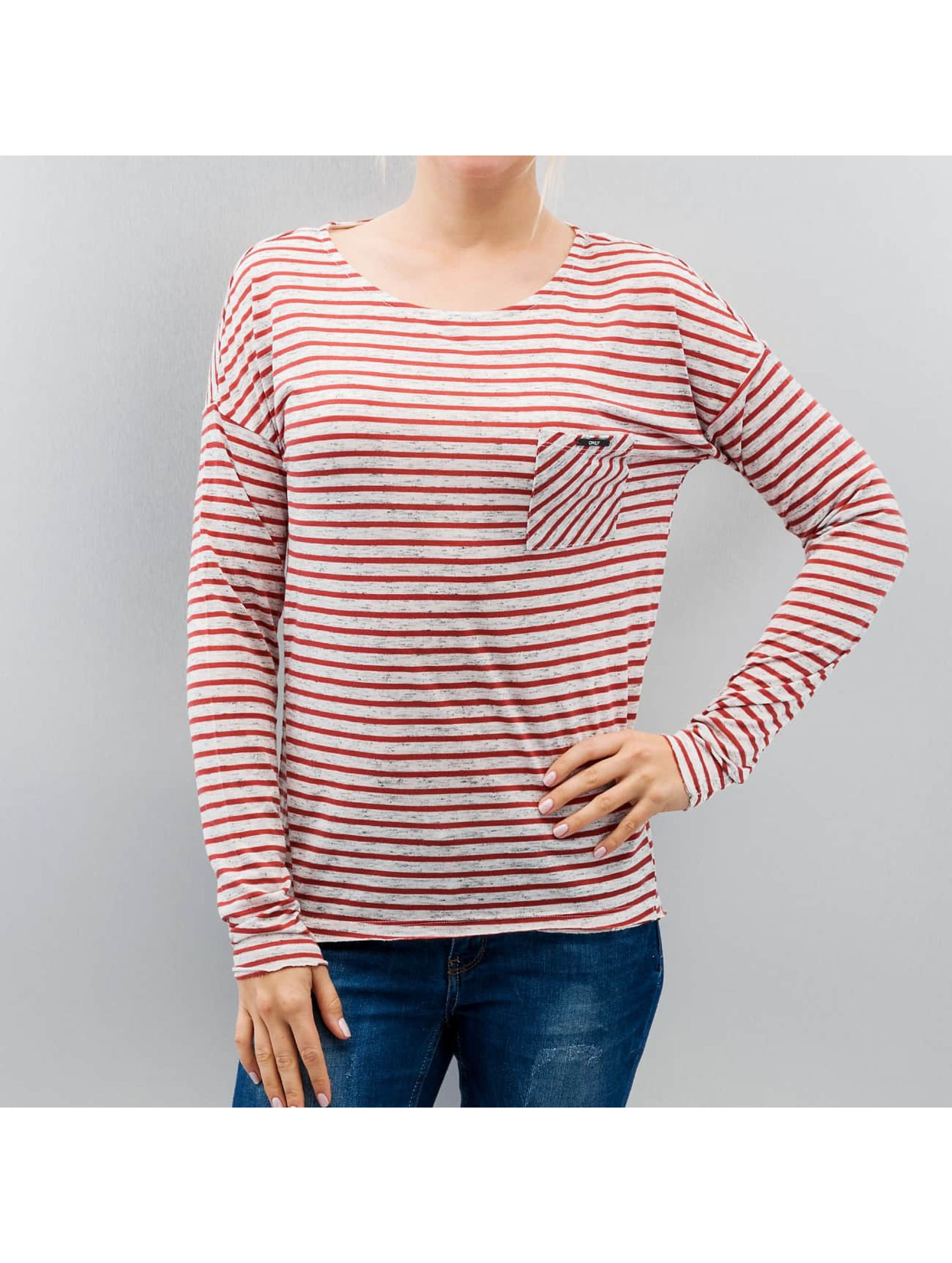 Only T-Shirt manches longues onlClare Pocket Stripes blanc