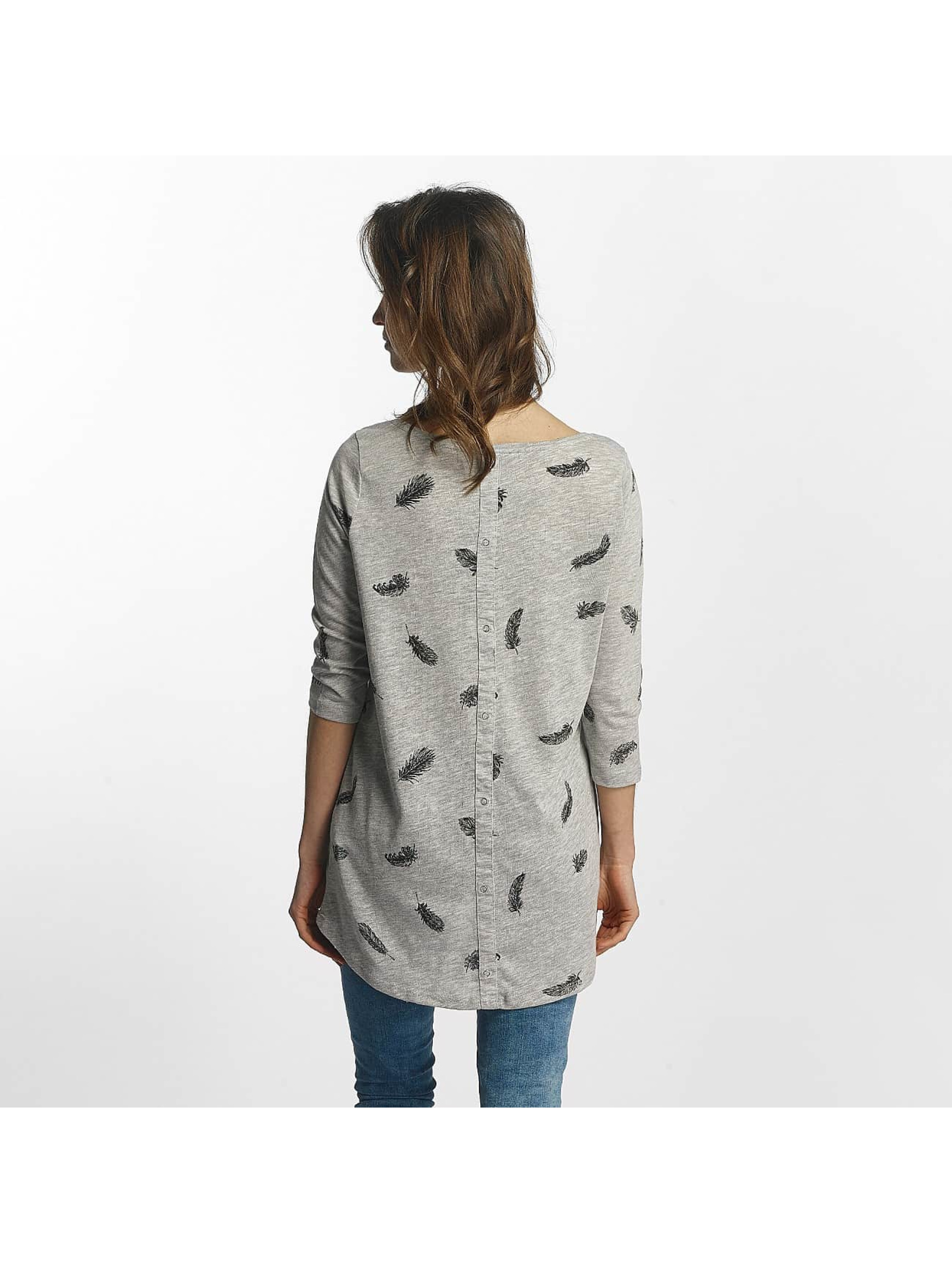 Only T-Shirt manches longues Casa 3/4 gris