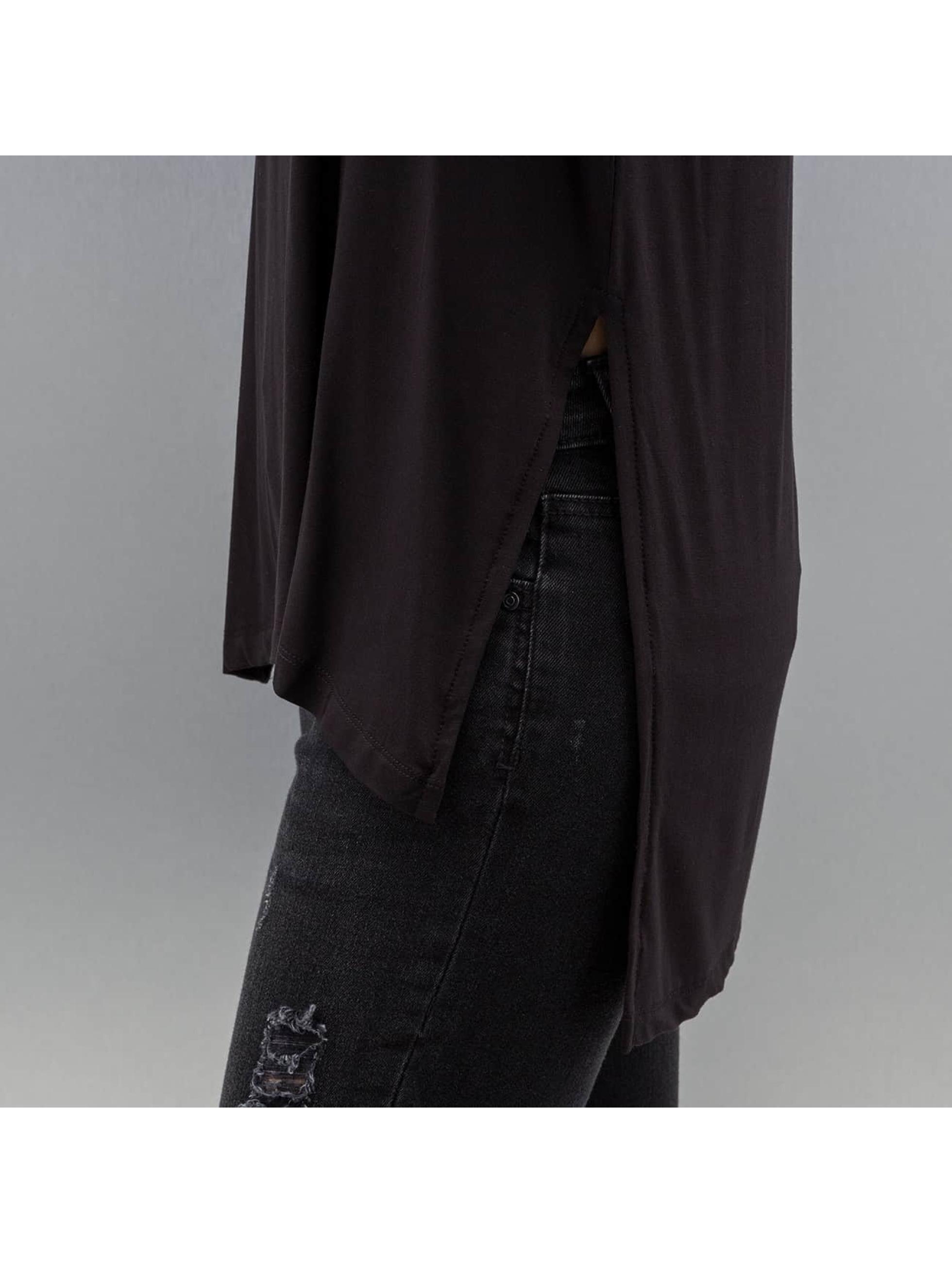 Only T-Shirt manches longues onlJewel Long Slit noir