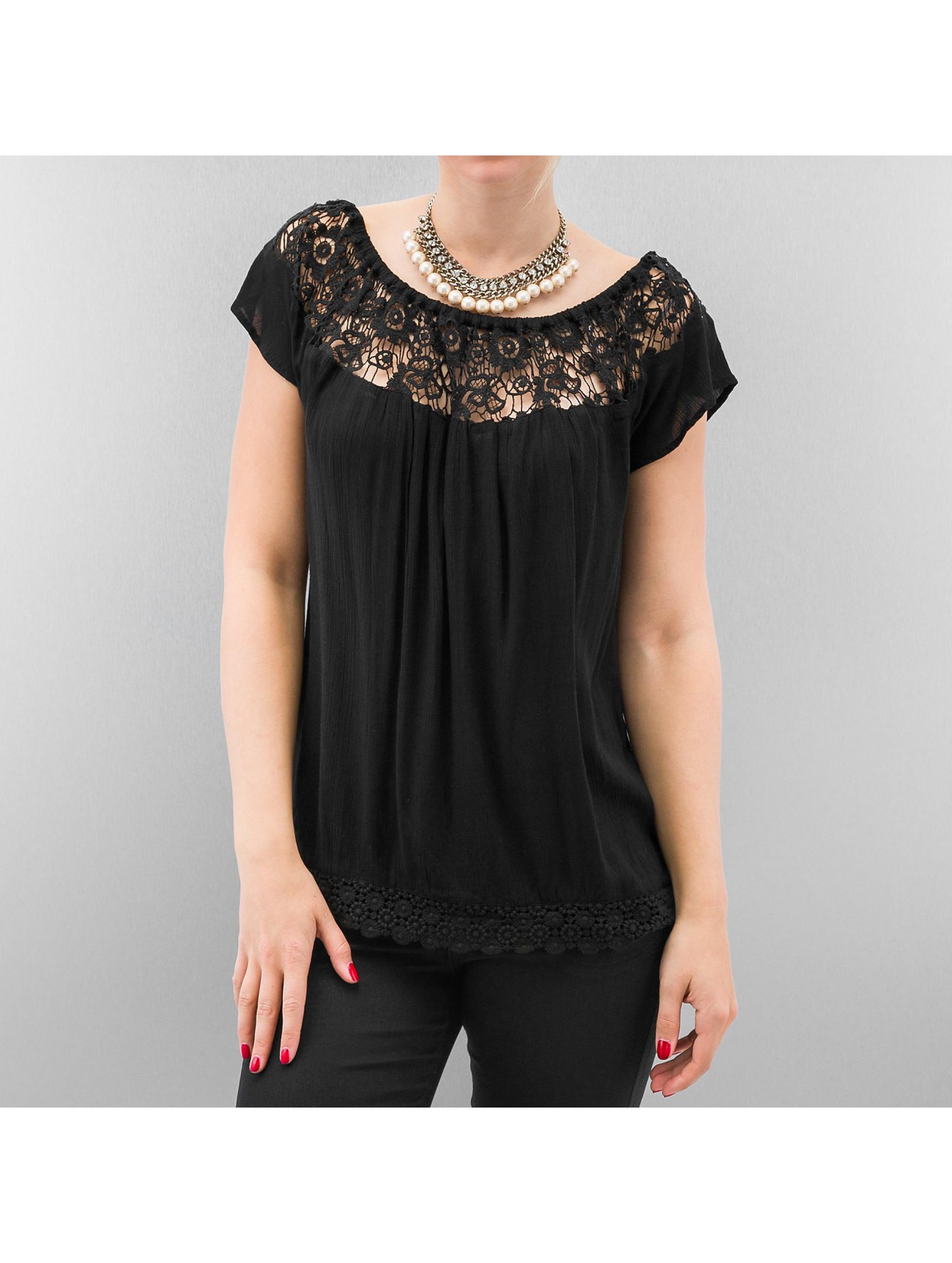 T-Shirt Harper Off Shoulder in schwarz