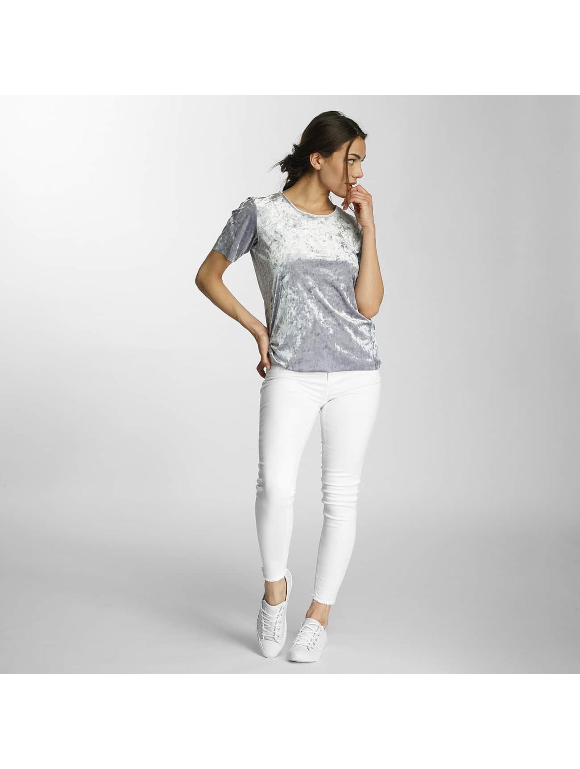 Only T-Shirt onlPunti Velour silberfarben