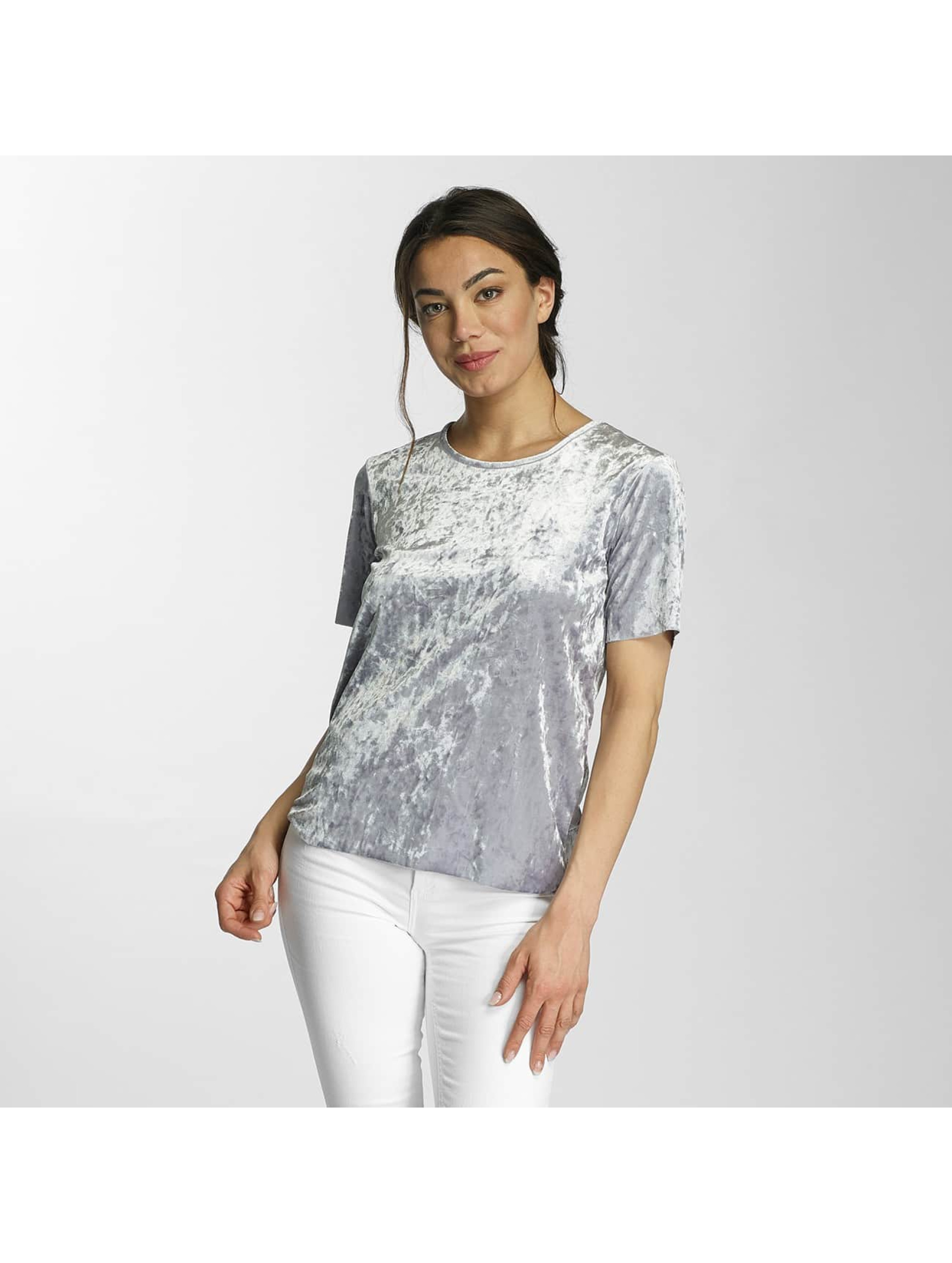 Only T-Shirt onlPunti Velour silver colored