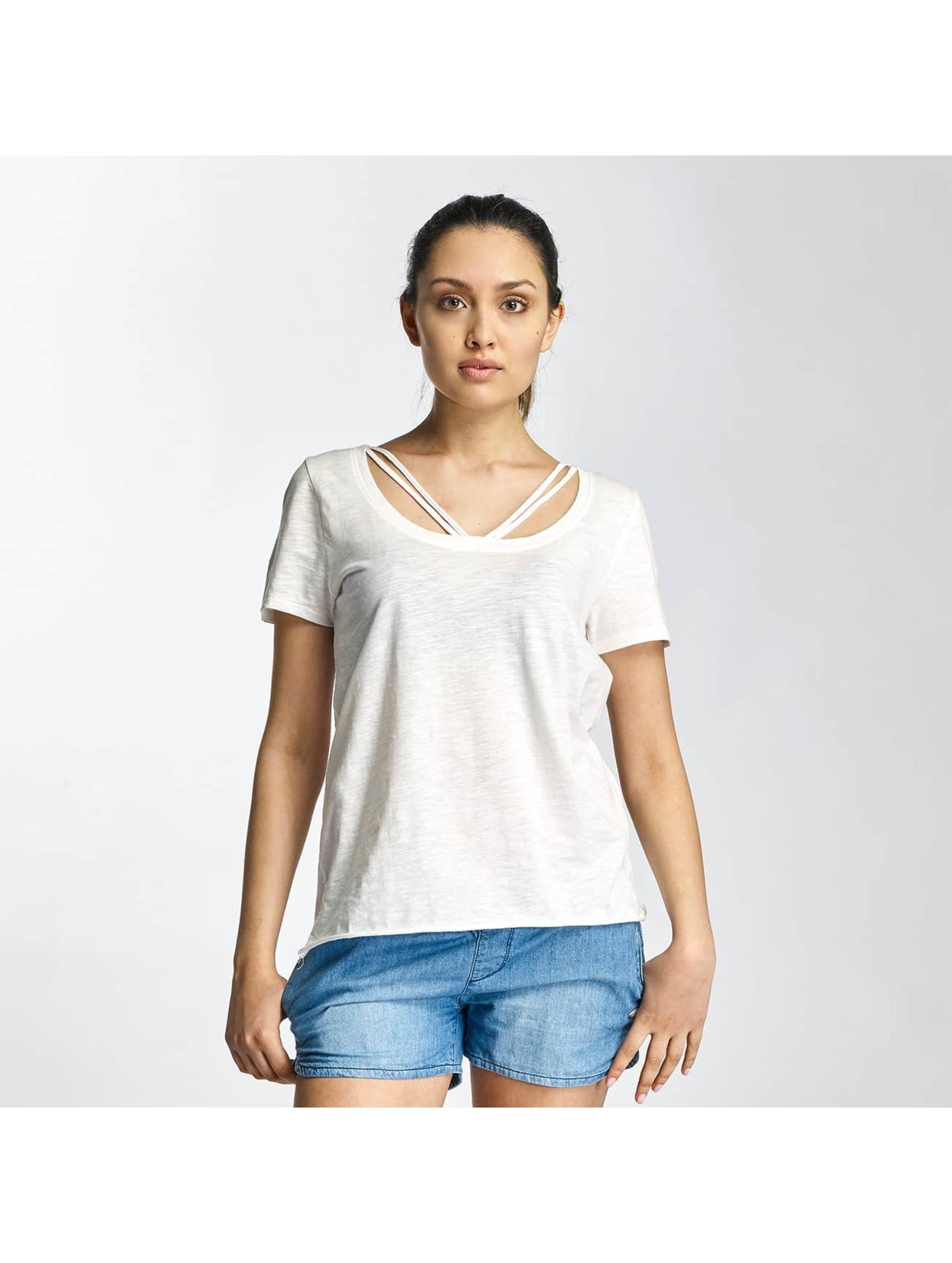 Only T-Shirt onlLeah Bone weiß