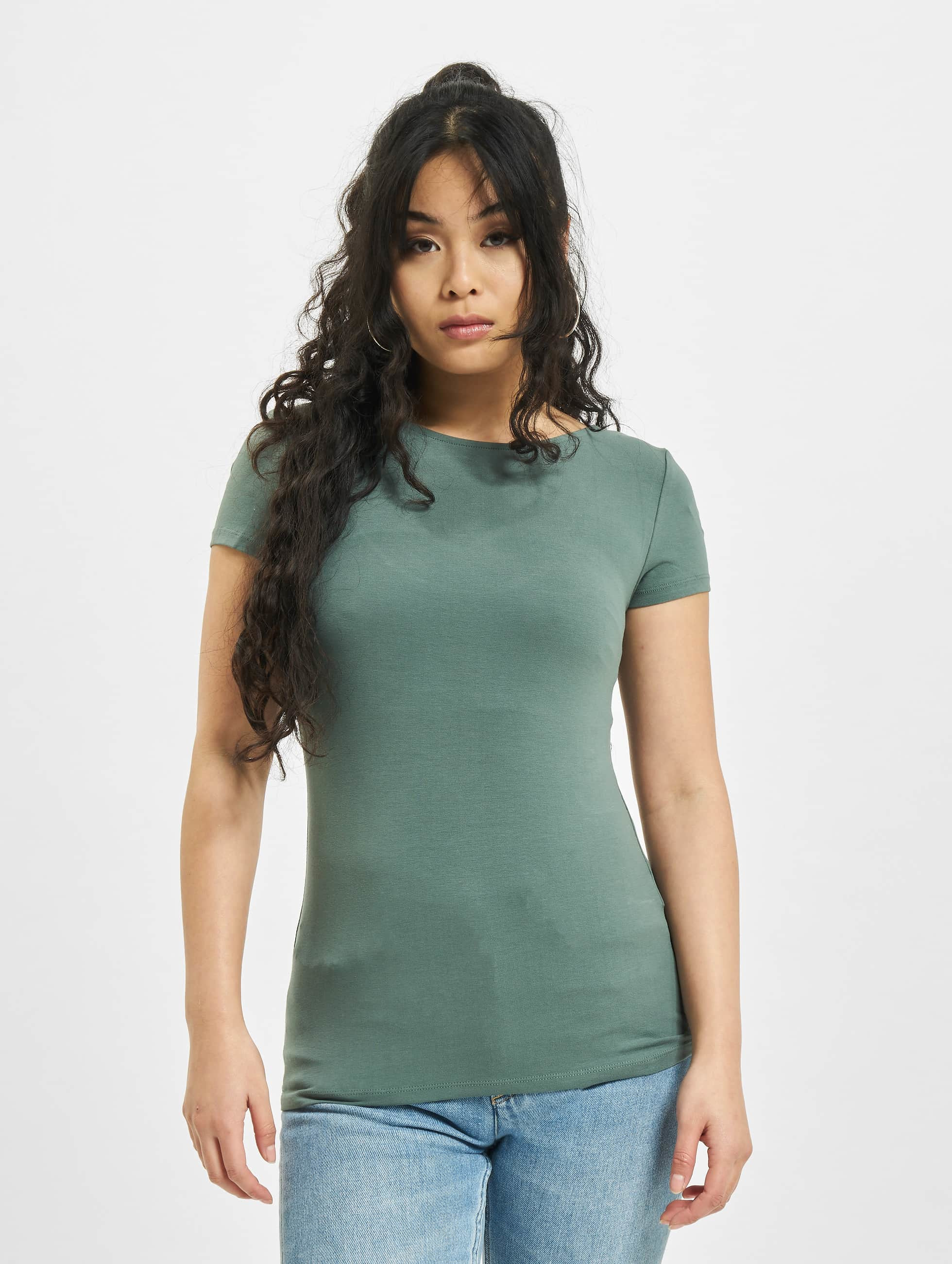 Only T-Shirty onlLive Love Lace Up zielony
