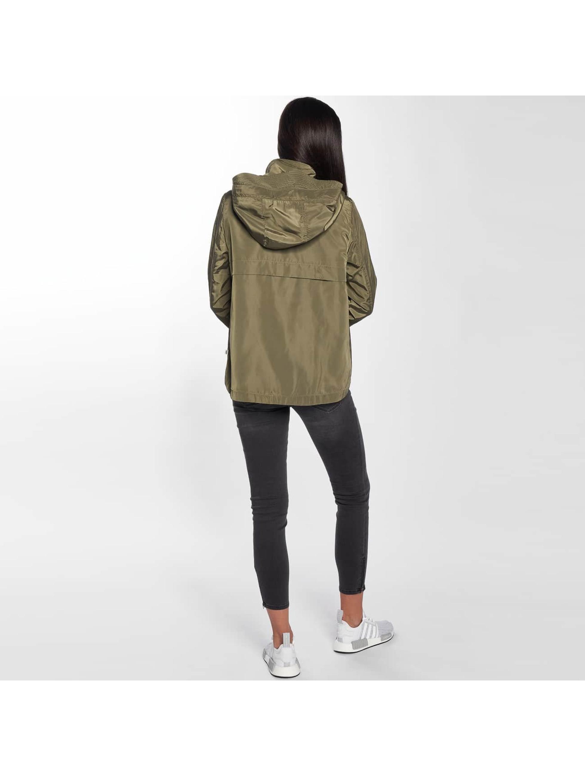 Only Transitional Jackets onlLina Nylon Parka khaki