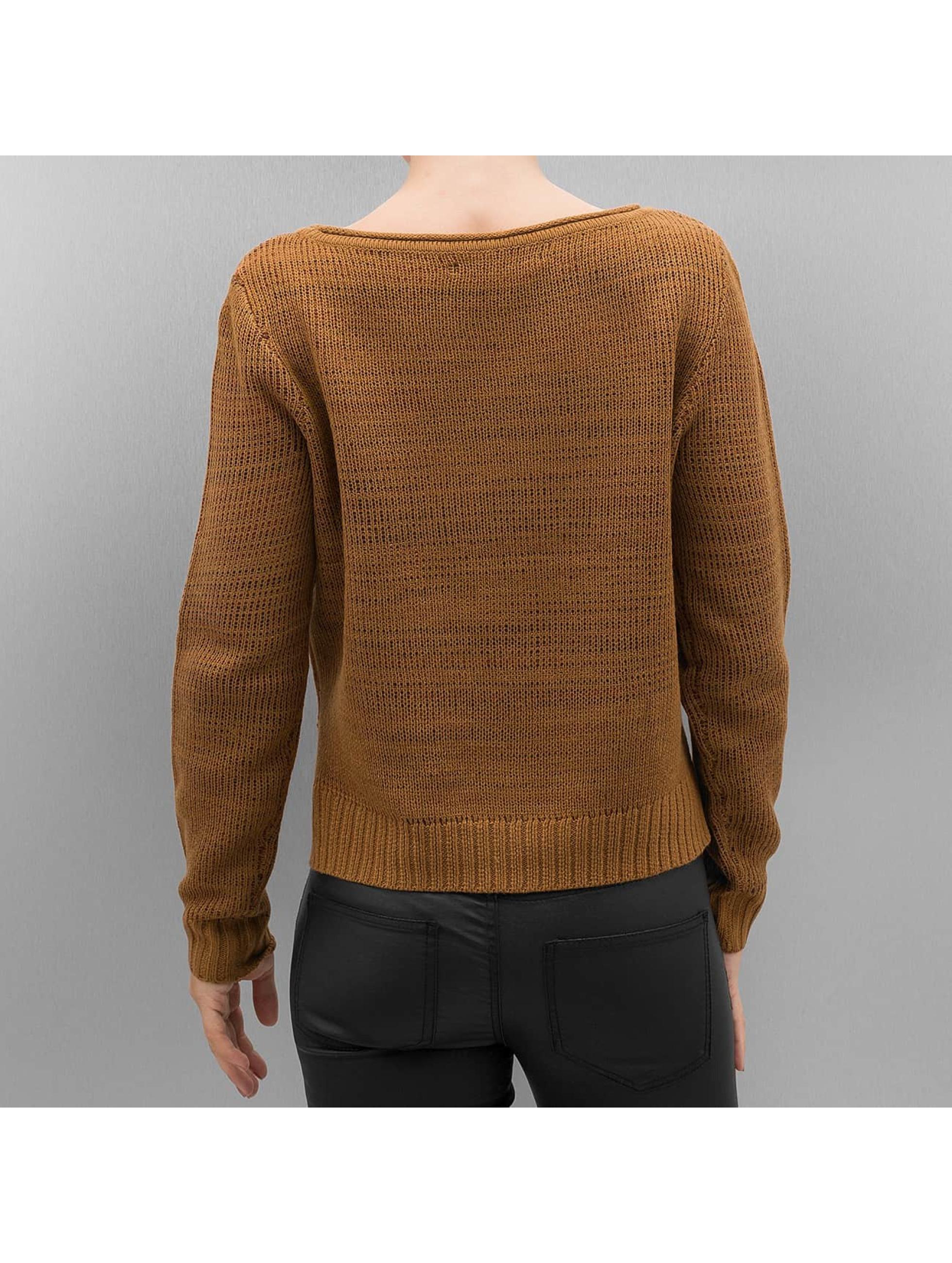 Only Tröja onlCamella Knit brun
