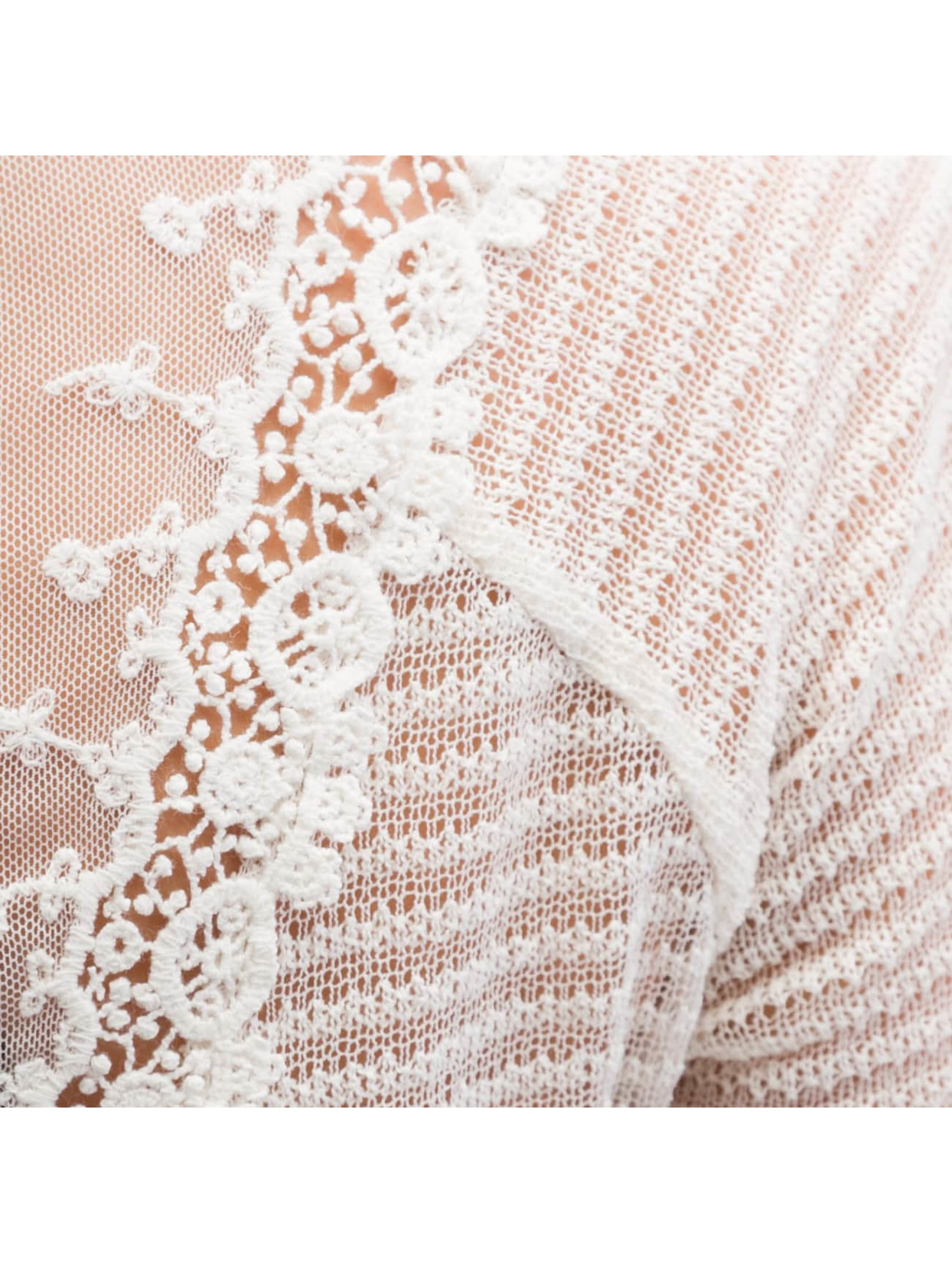 Only trui onlElvira Lace wit