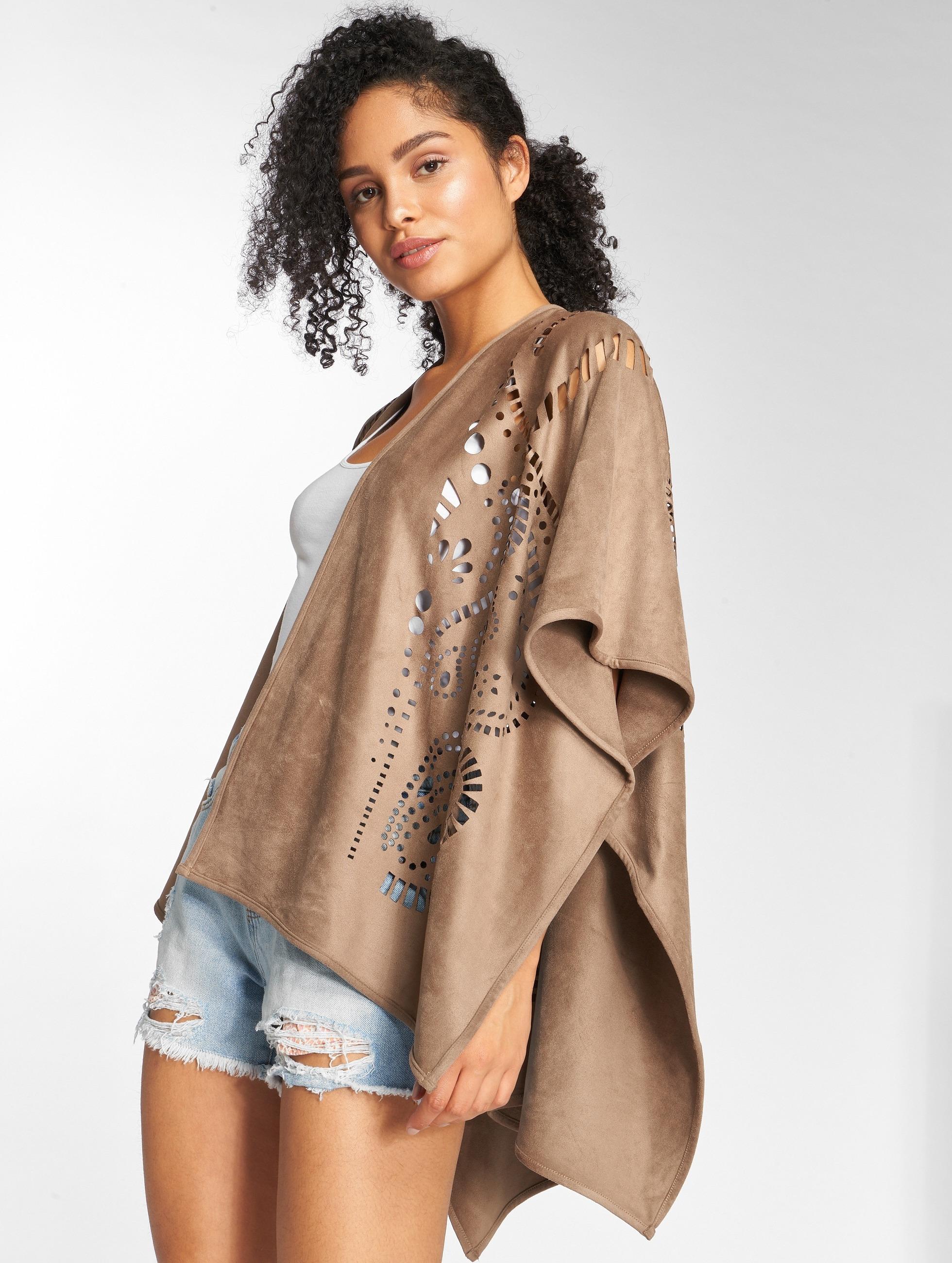 Only vest onlDita Poncho bruin