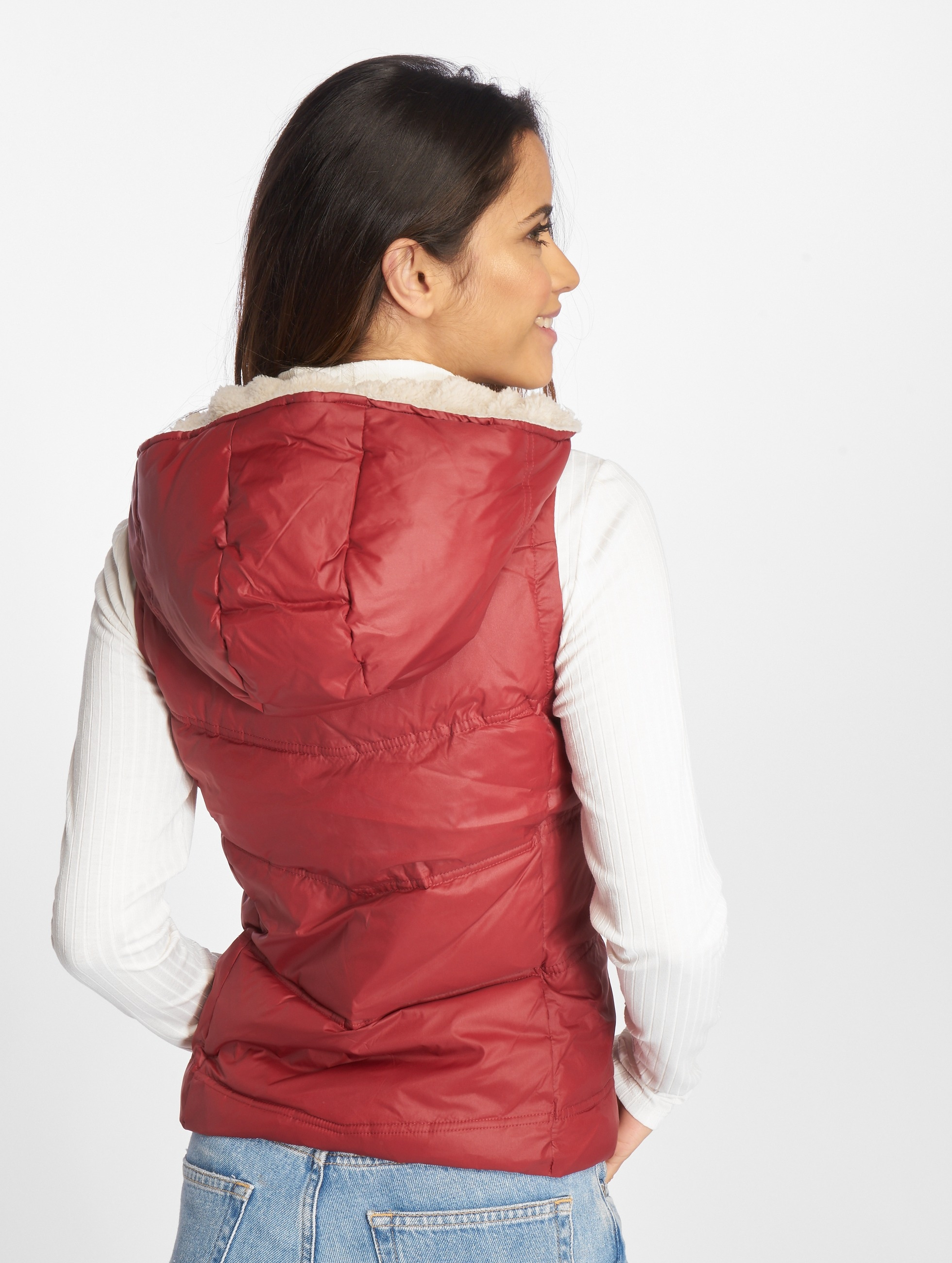 Only Vest onlPeyton Sherpa red
