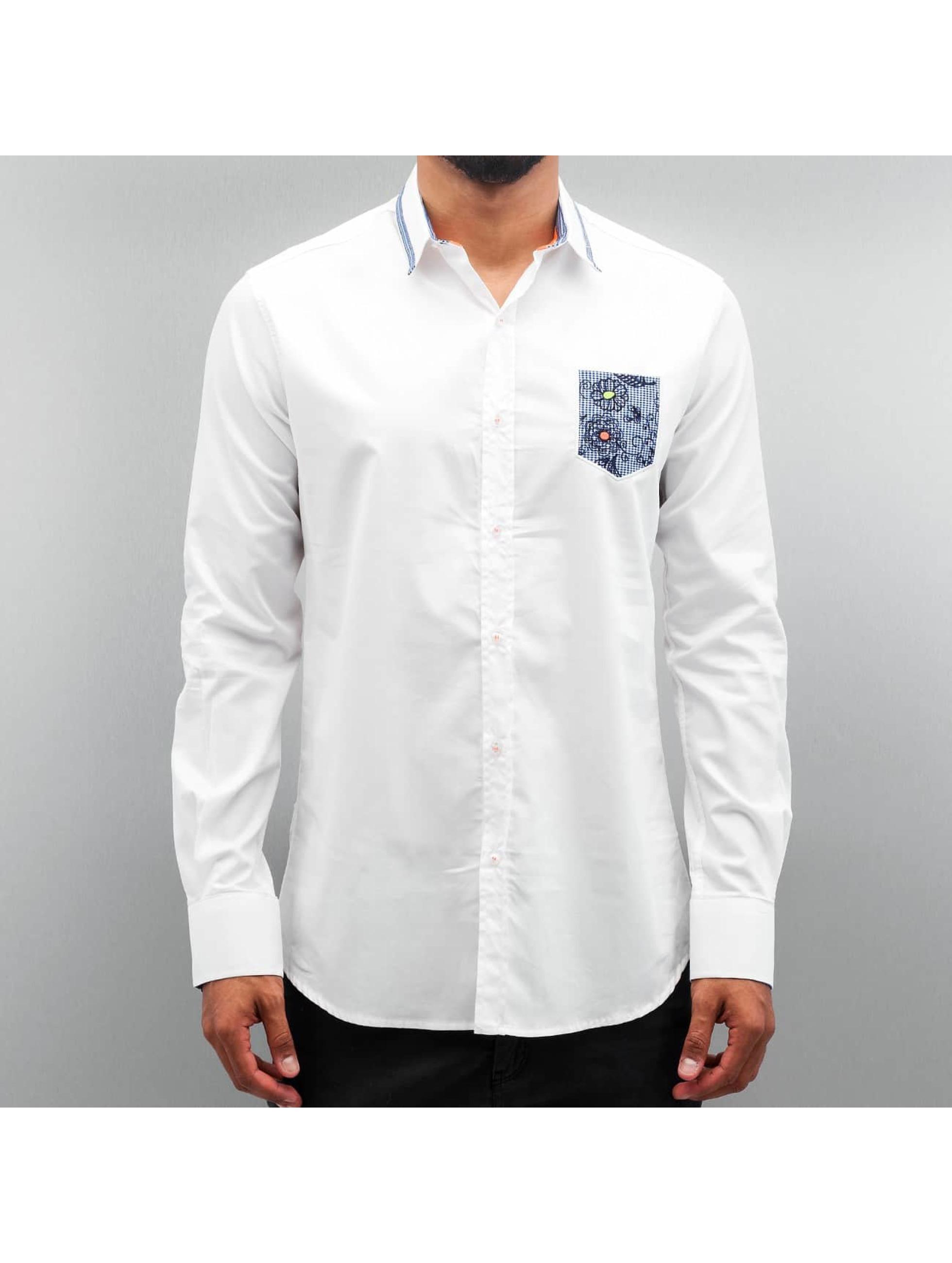 Open Hemd Flower weiß