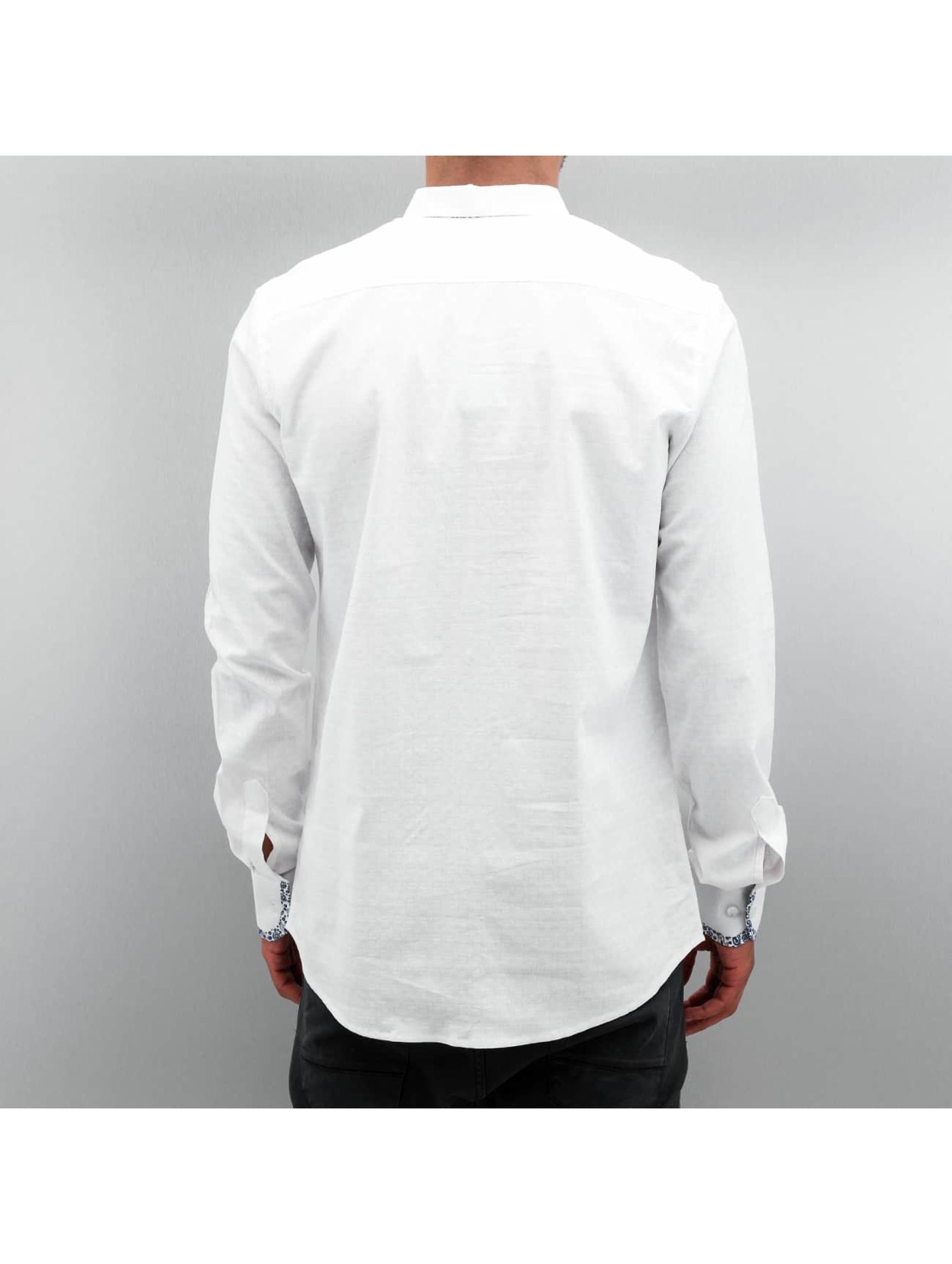 Open Hemd Paisley weiß
