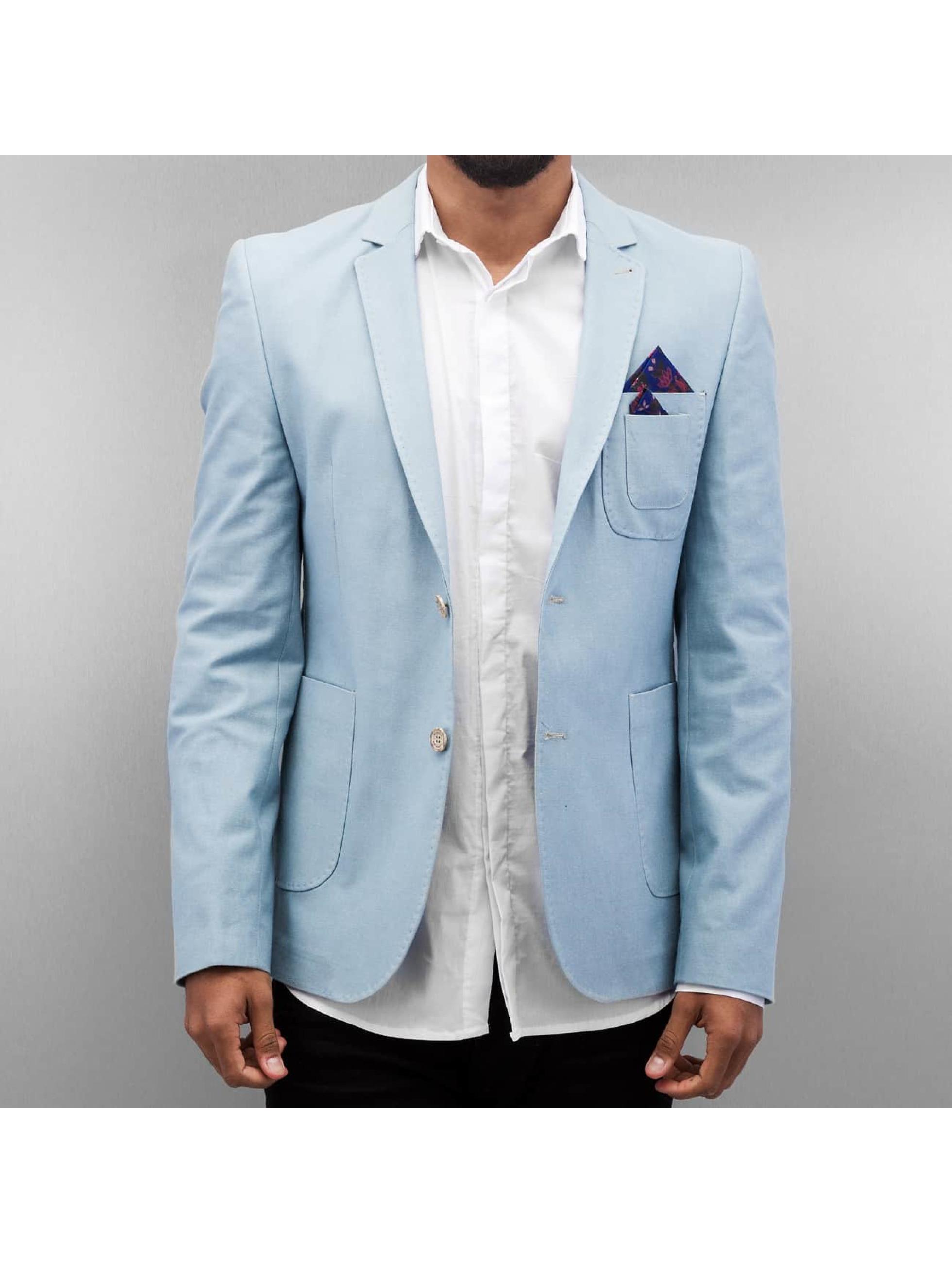 Open Mantel/Sakko Basic blau