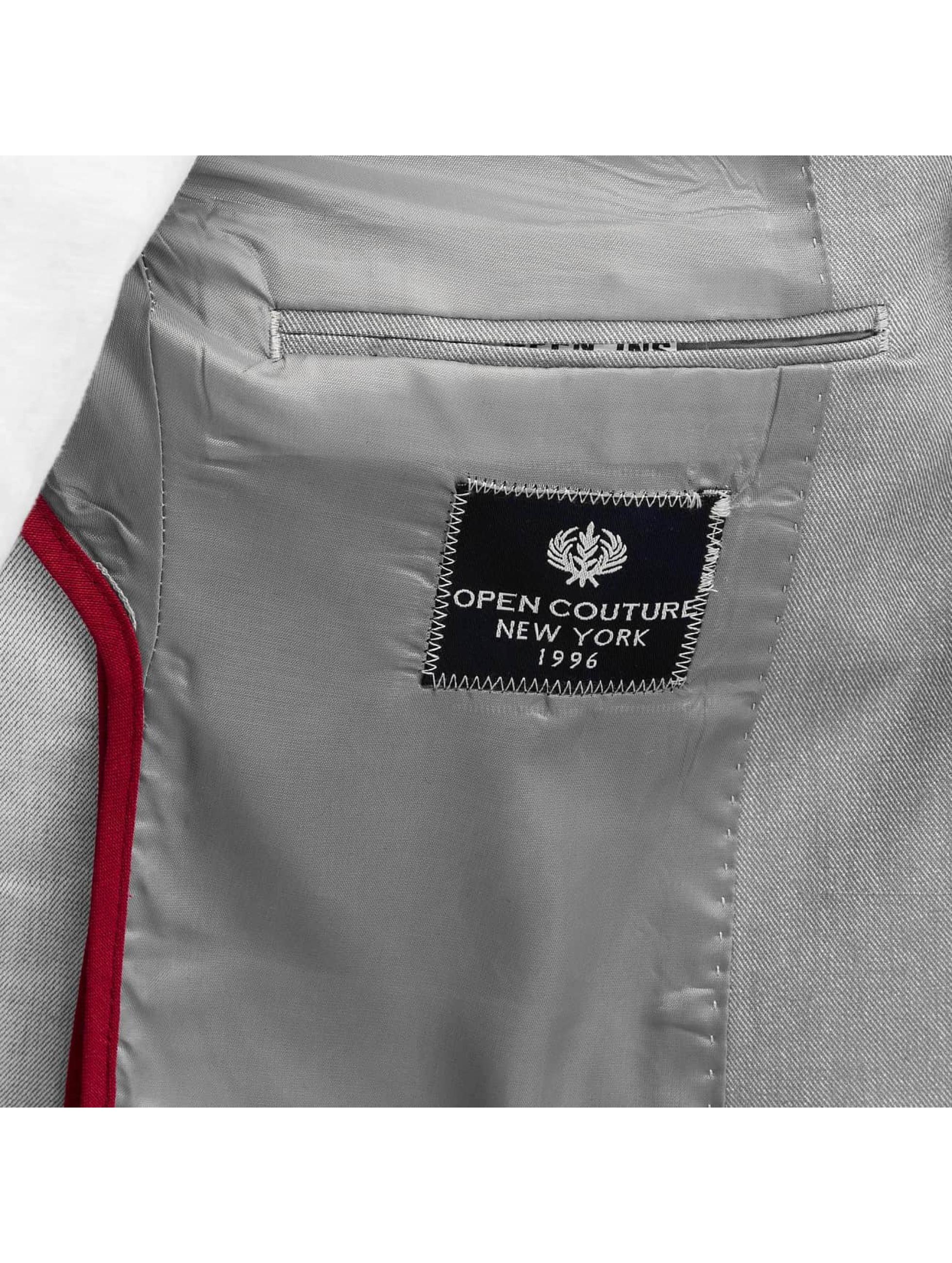 Open Mantel/Sakko Basic grau