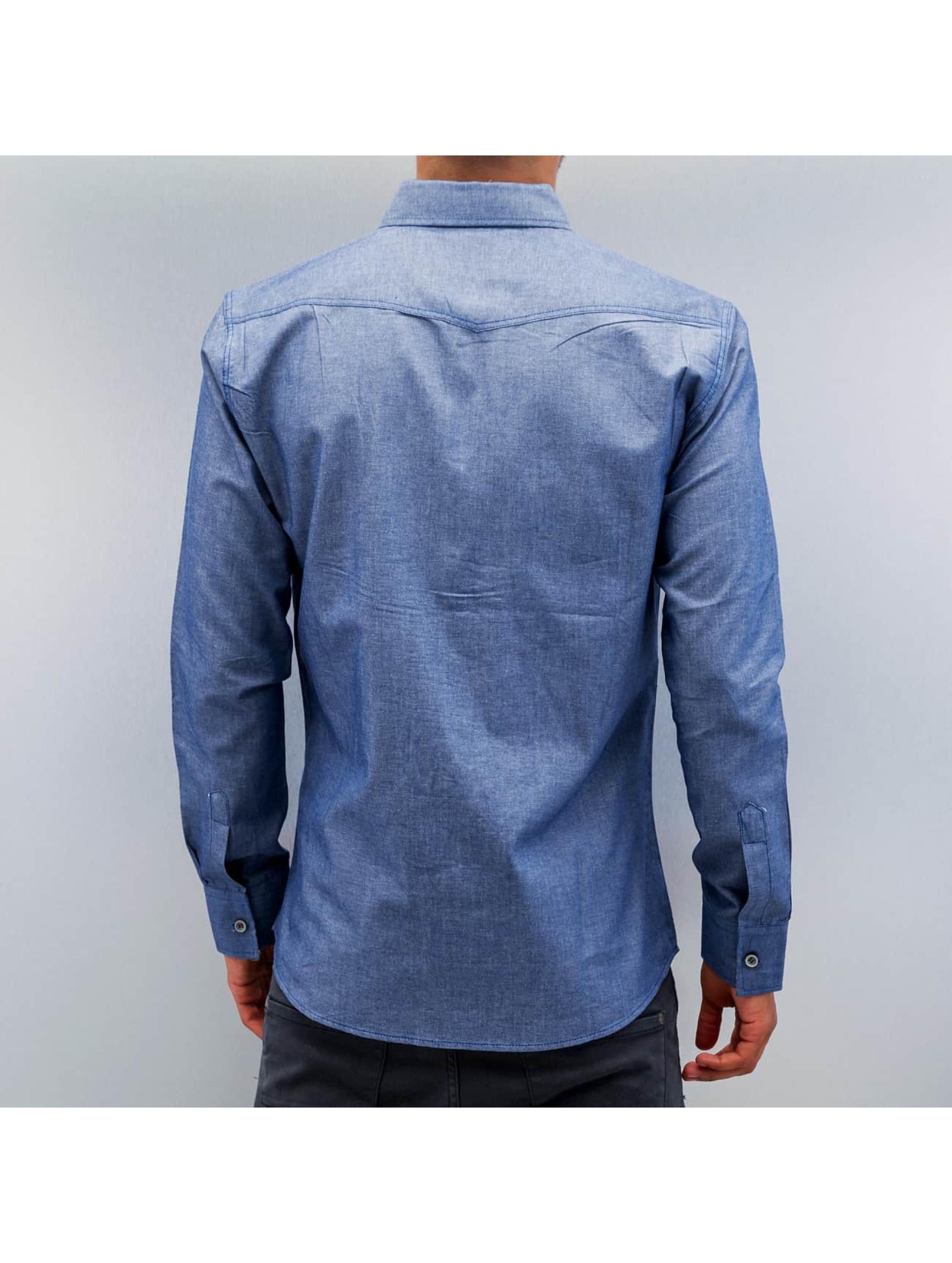Open overhemd Breast Pocket blauw