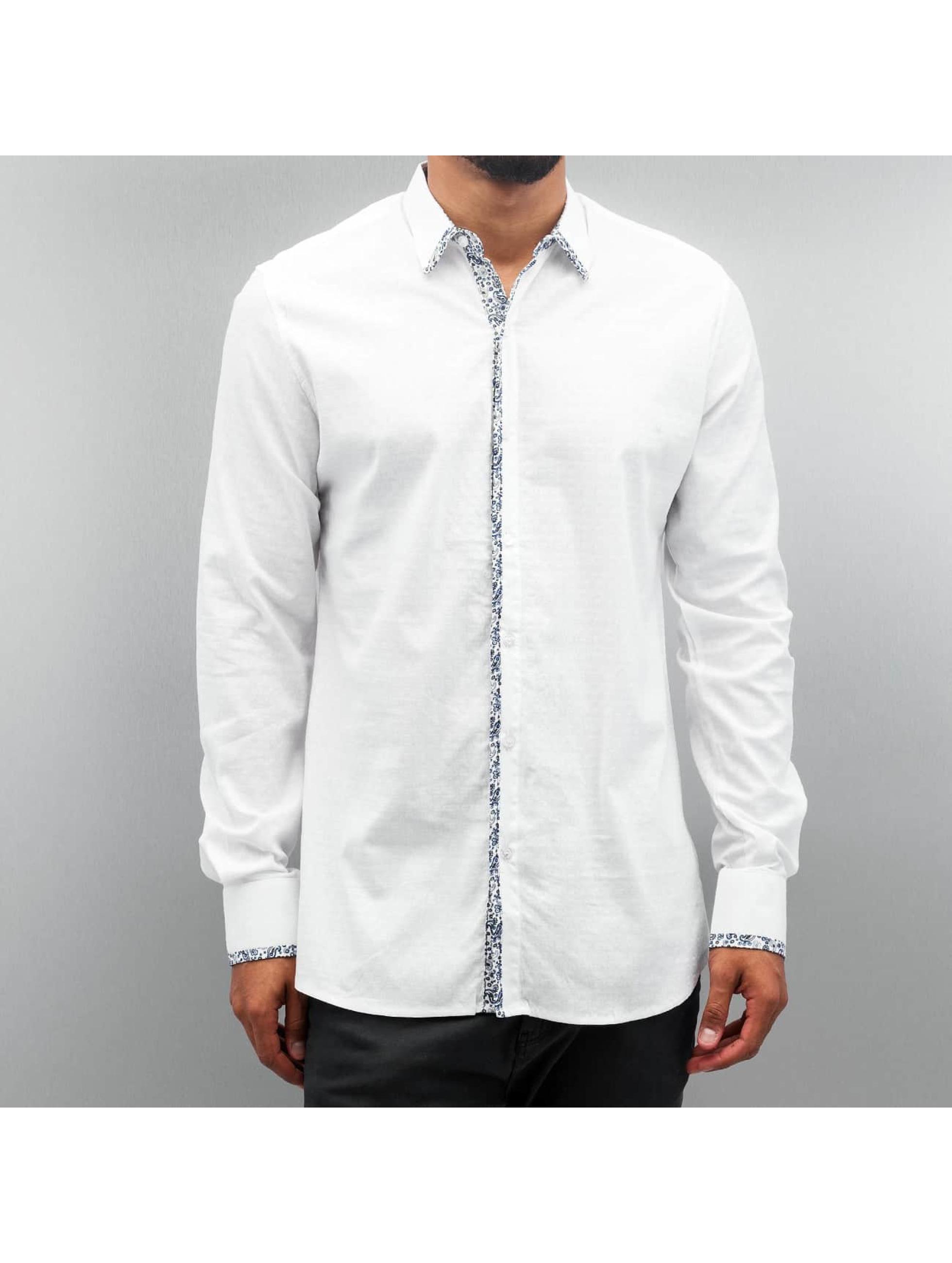 Open overhemd Paisley wit