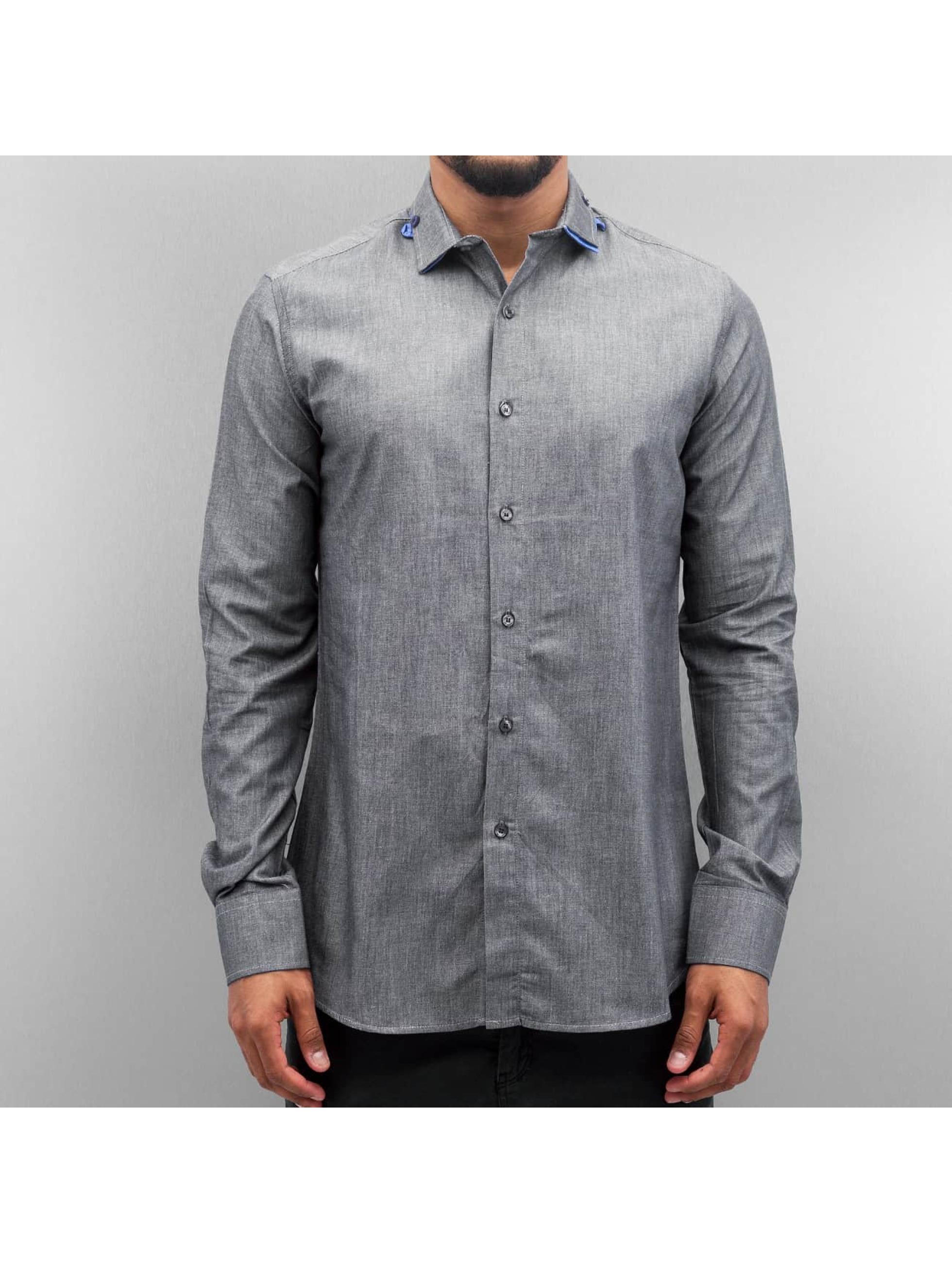 Open overhemd Classic zwart