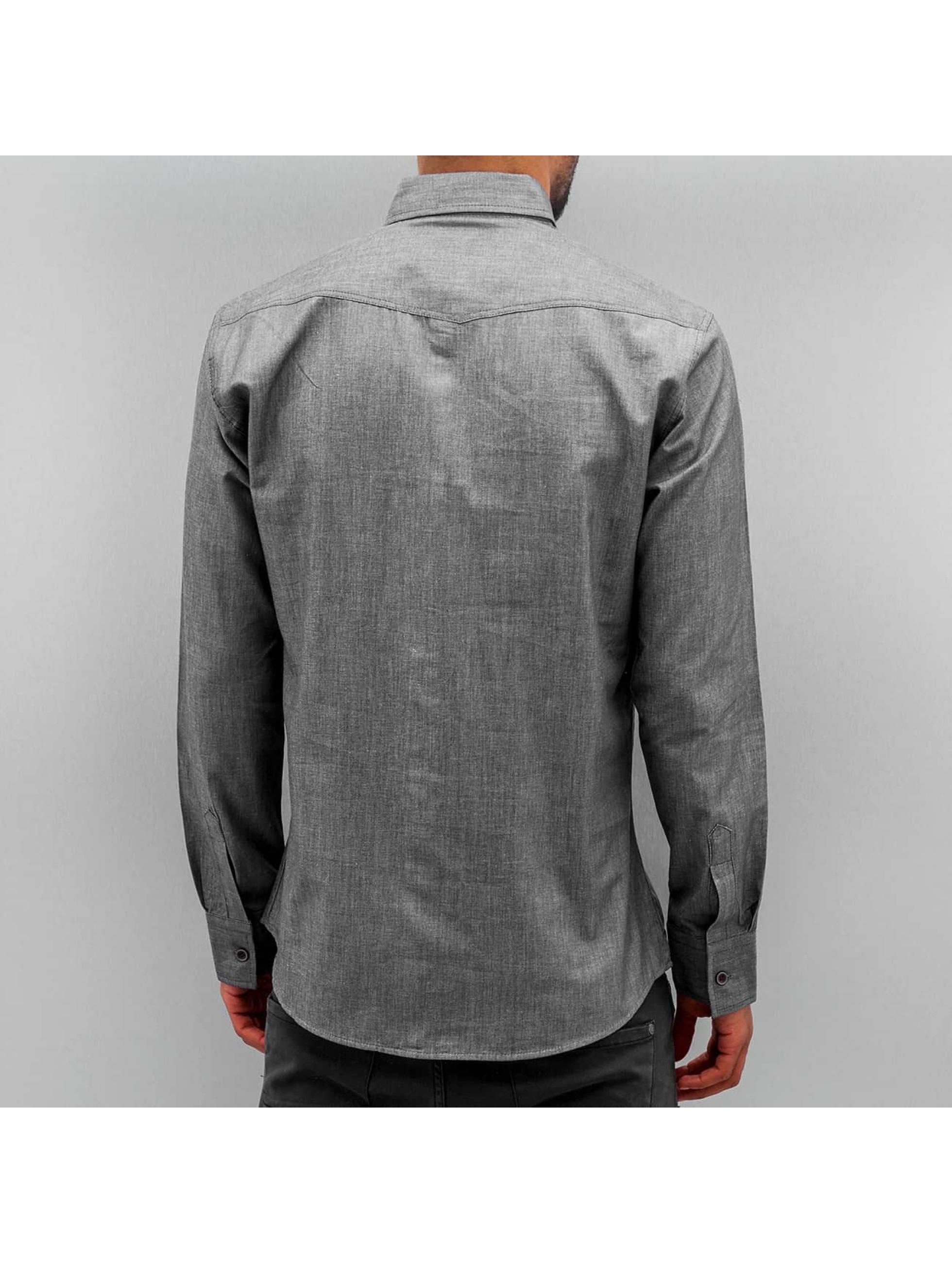 Open Skjorter Breast Pocket indigo