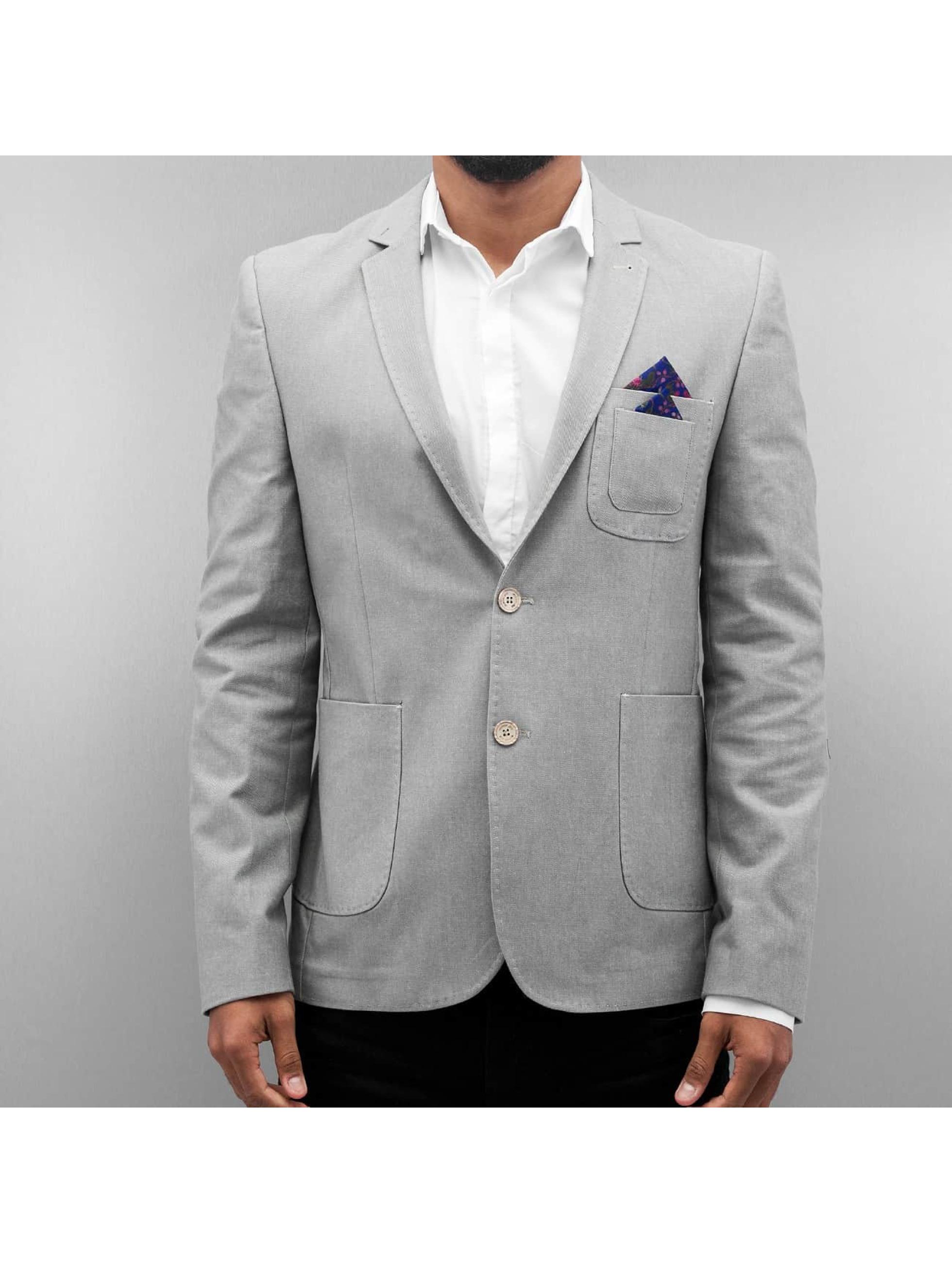 Open Veste de costume Basic gris