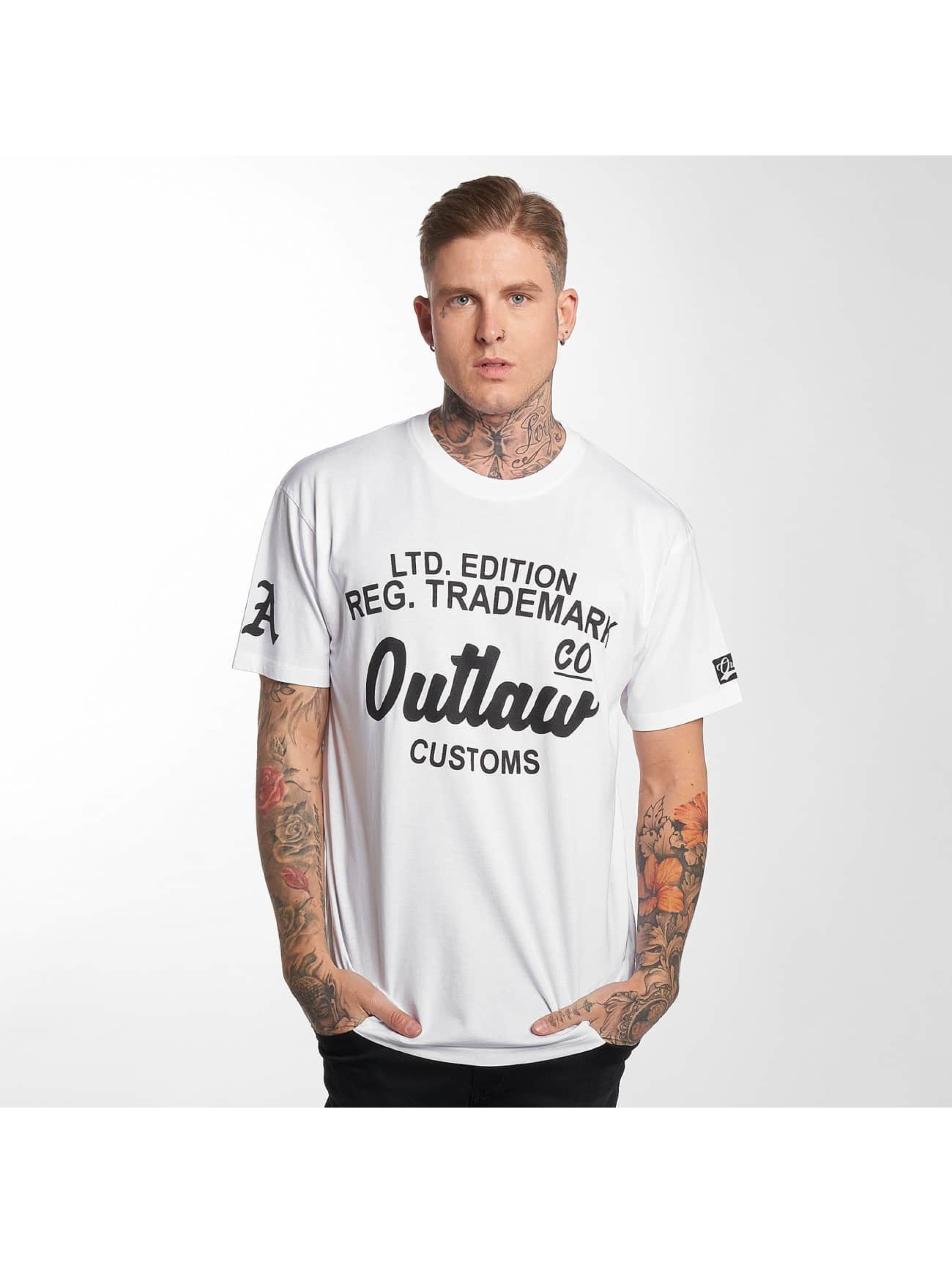 Outlaw T-Shirt Outlaw Customs blanc