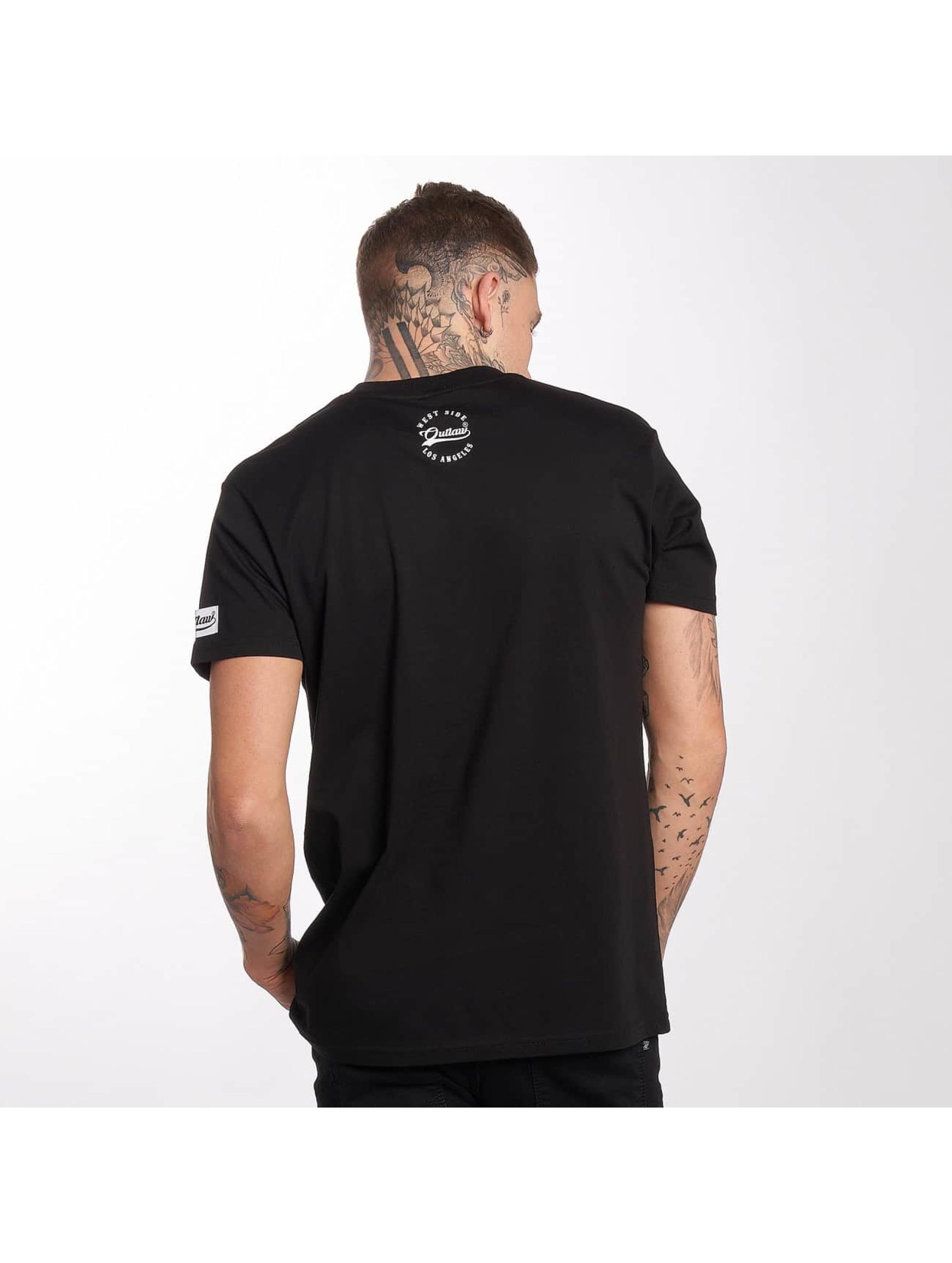 Outlaw t-shirt Me against the world zwart
