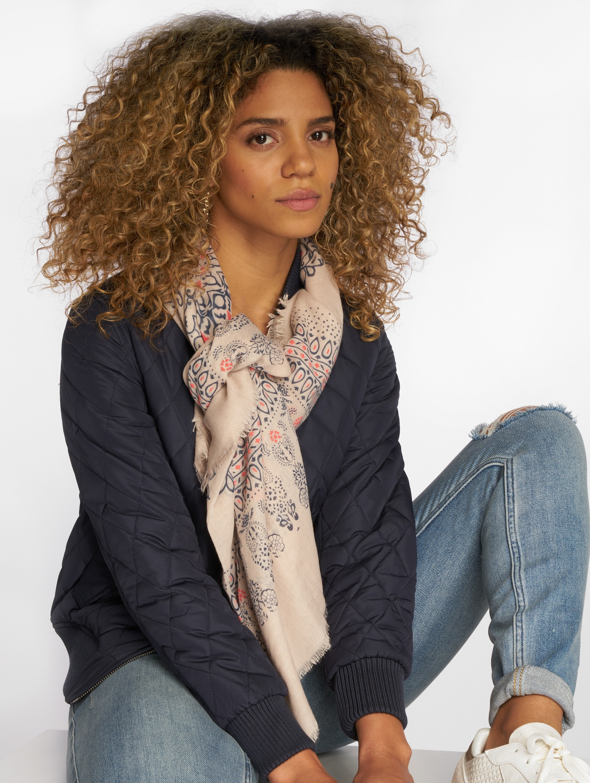 Oxbow Scarve Quimina Printed Square beige