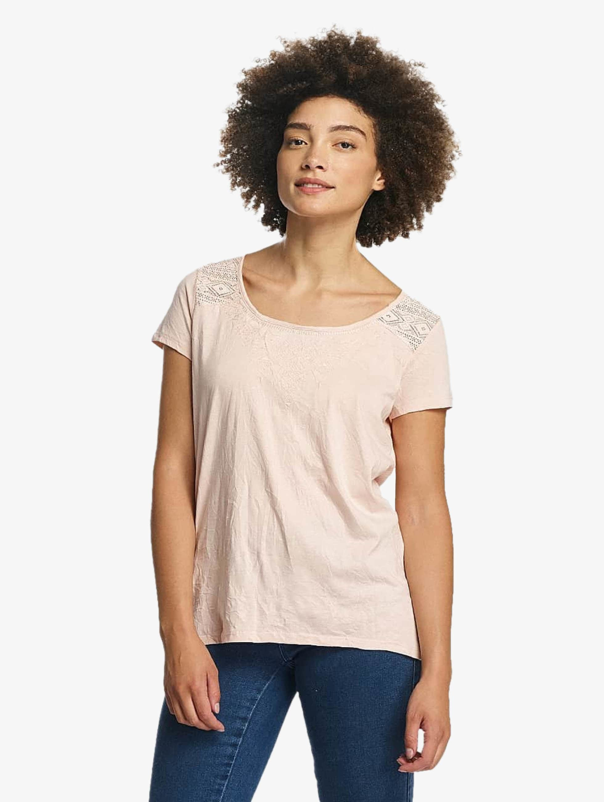 Oxbow T-Shirt Thea Crinkle rosa