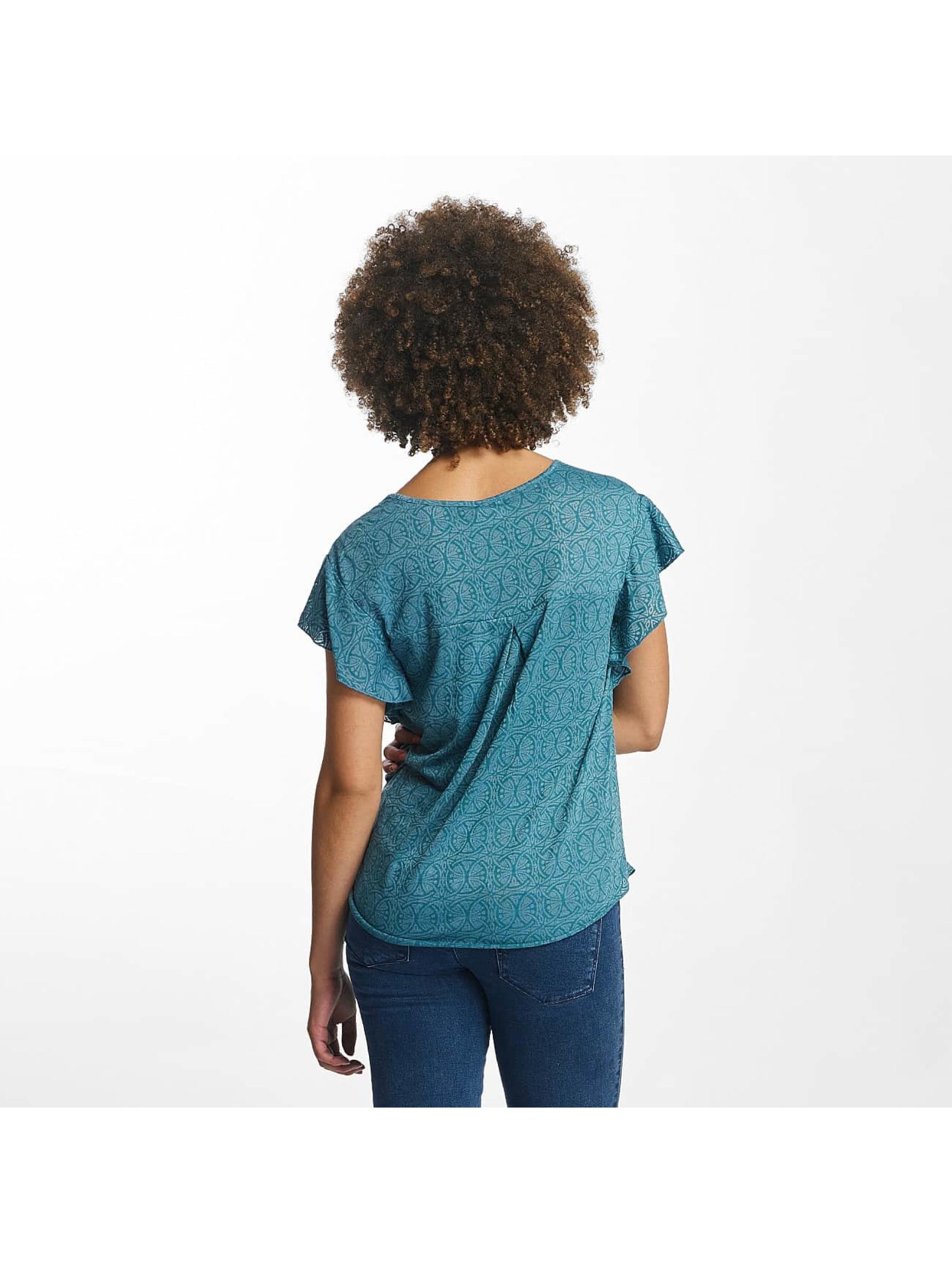 Oxbow T-Shirty Trinity Crinkle turkusowy