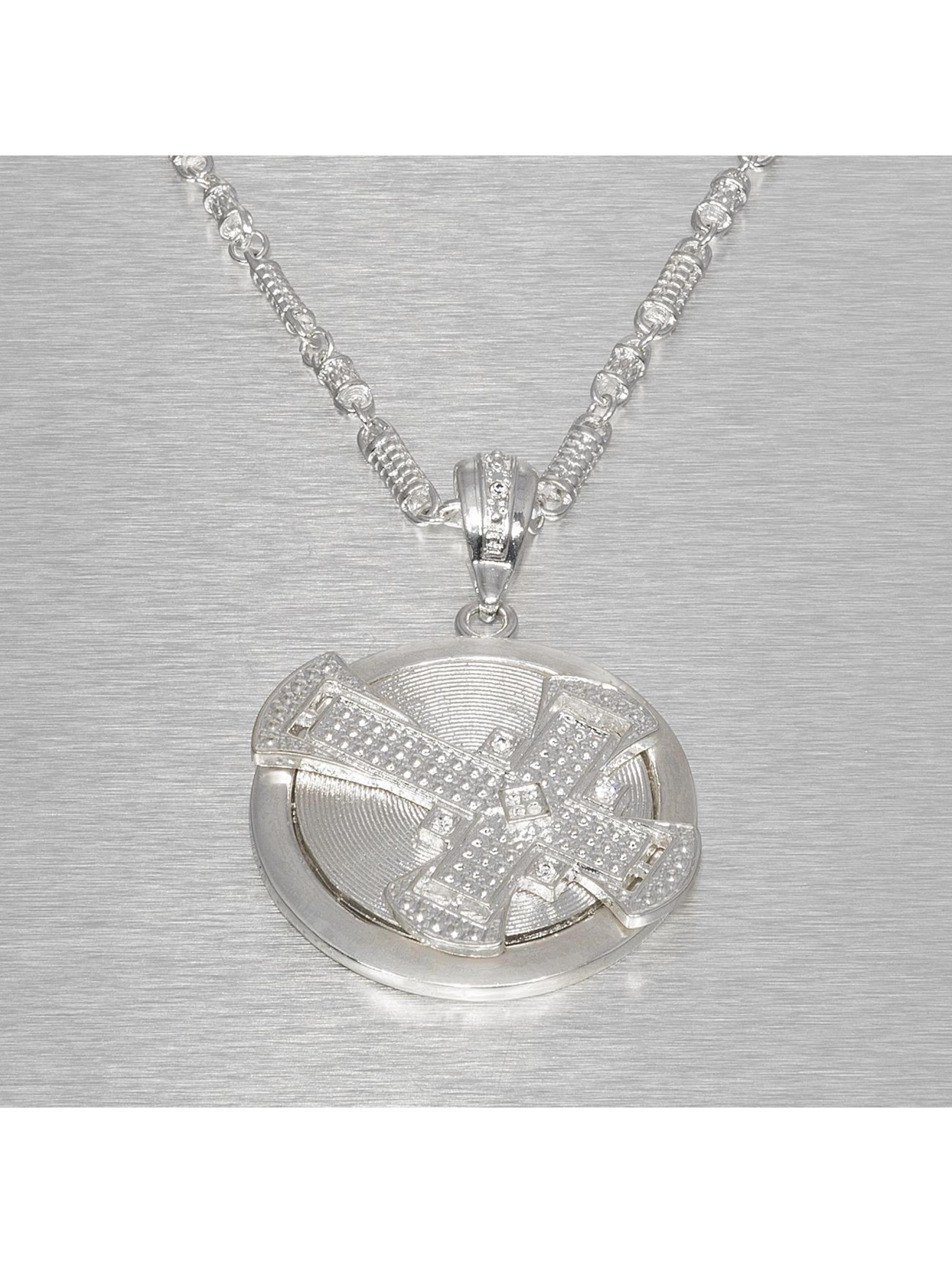 Paris Jewelry Kette Hip Hop Jewels Cross silberfarben