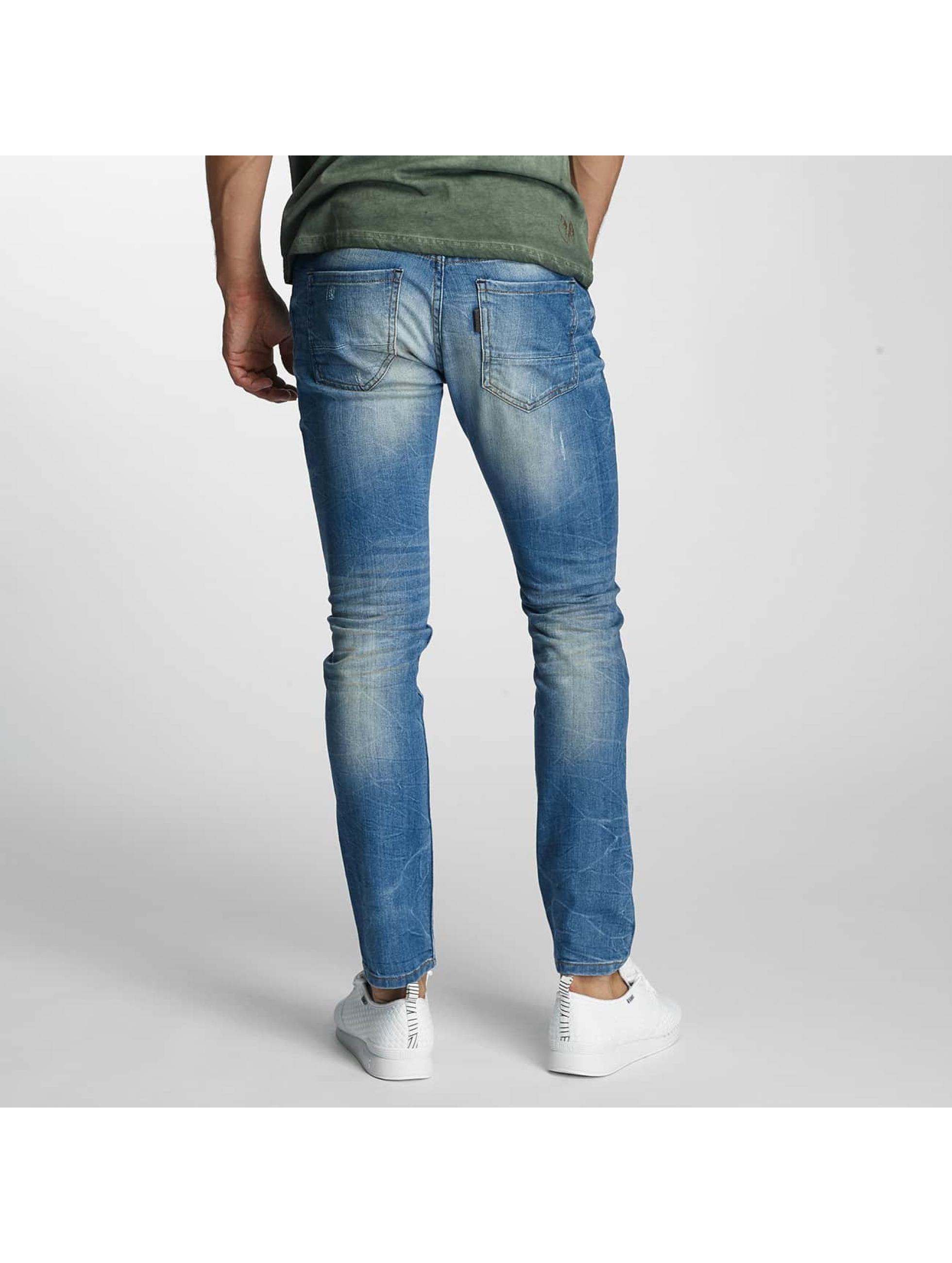 Paris Premium Jean coupe droite Dirt bleu