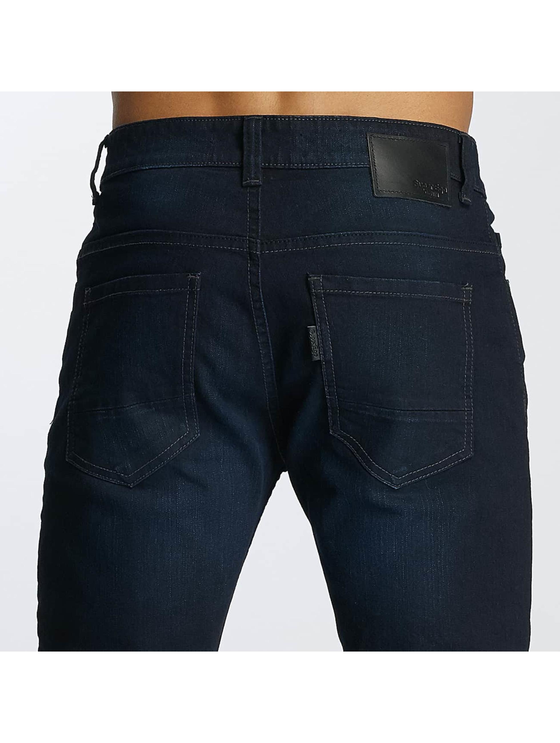 Paris Premium Jean coupe droite Lucifer bleu