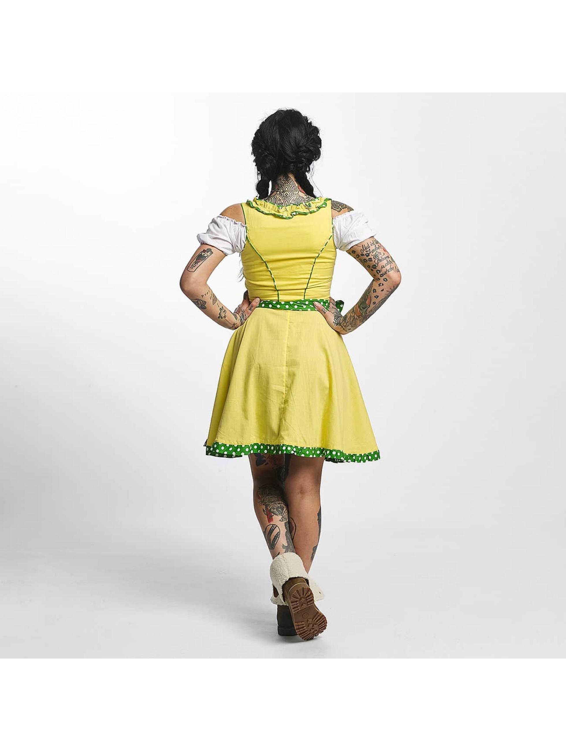 Paris Premium jurk Funny geel